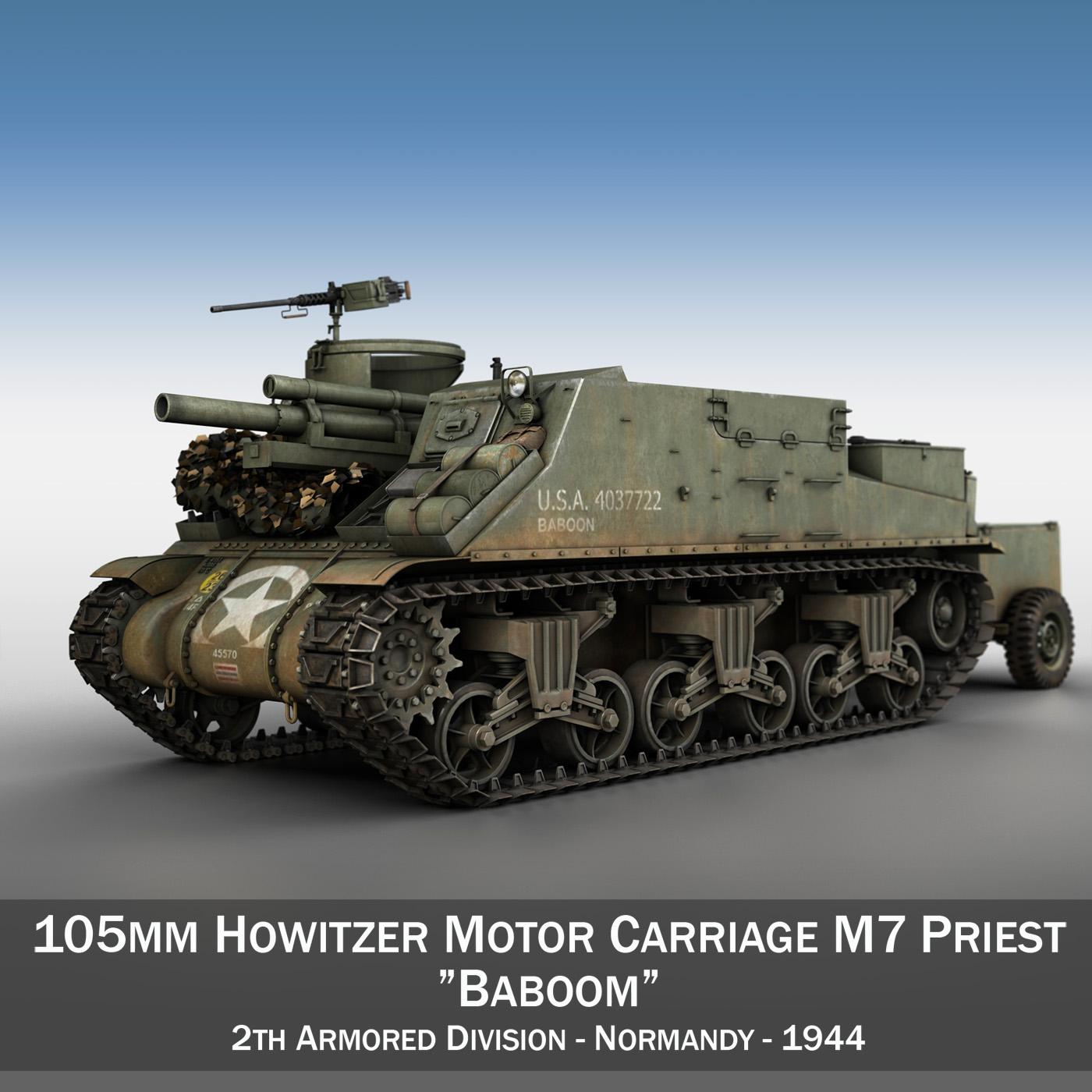 m7 priest – baboom 3d model 3ds fbx c4d lwo obj 201032