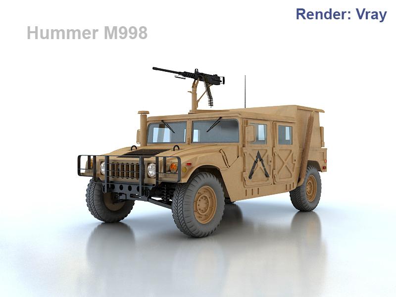hummer m998 3d model max fbx obj 201115