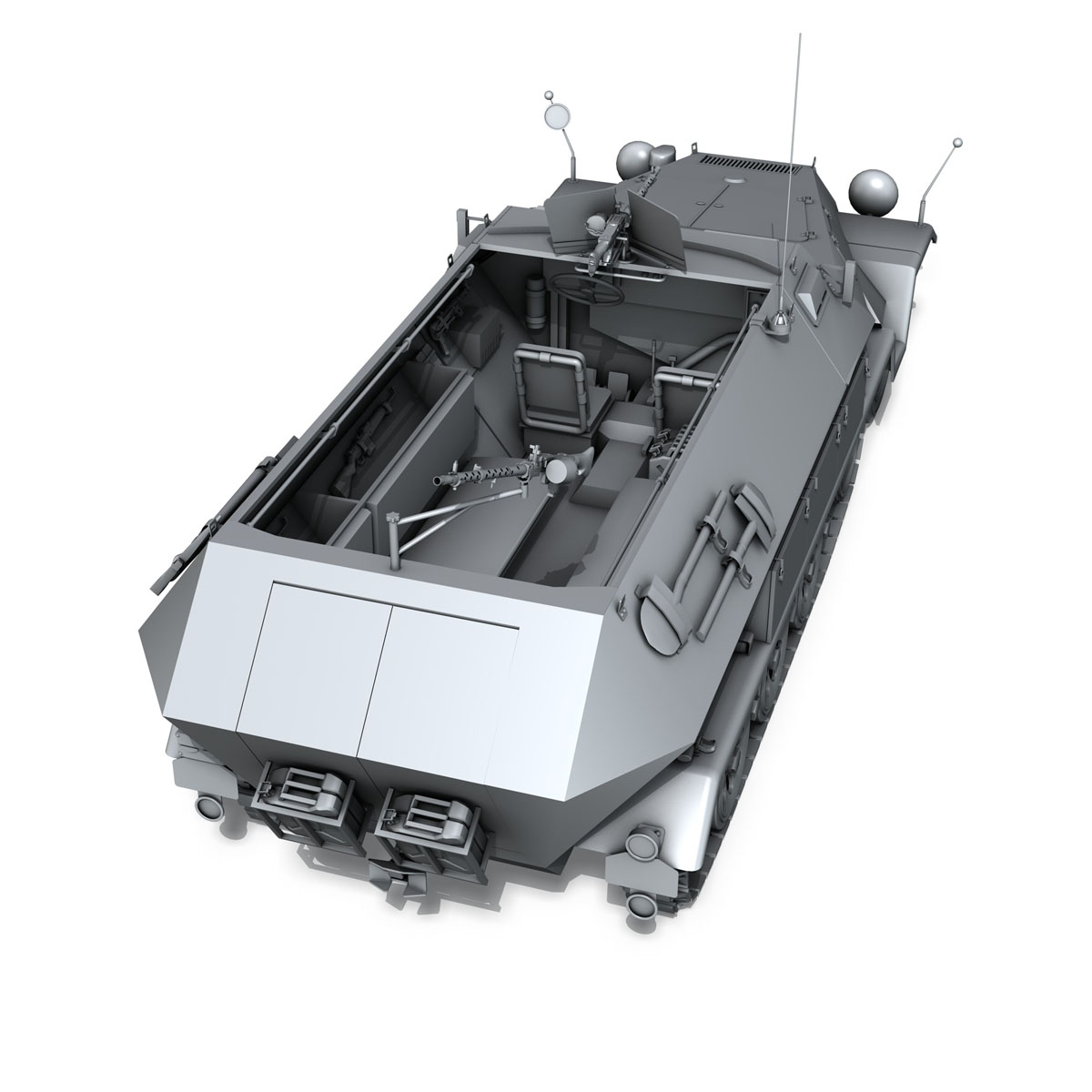 sd.kfz 251/1 ausf.b – hanomag halftruck 3d model 3ds fbx c4d lwo obj 201160
