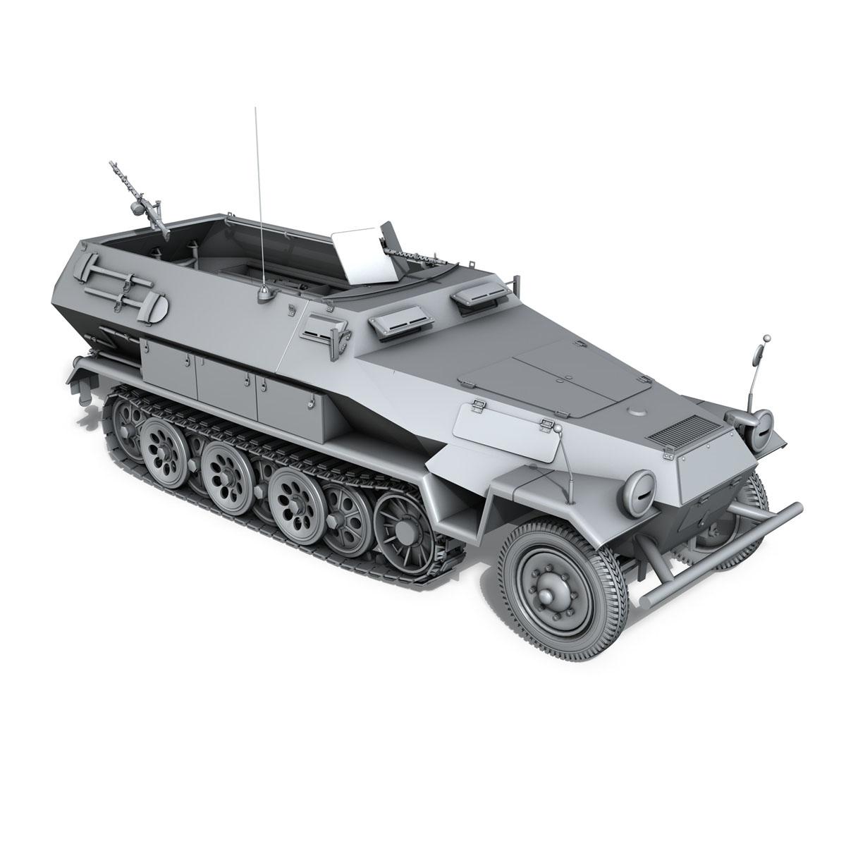 sd.kfz 251/1 ausf.b – hanomag halftruck 3d model 3ds fbx c4d lwo obj 201161