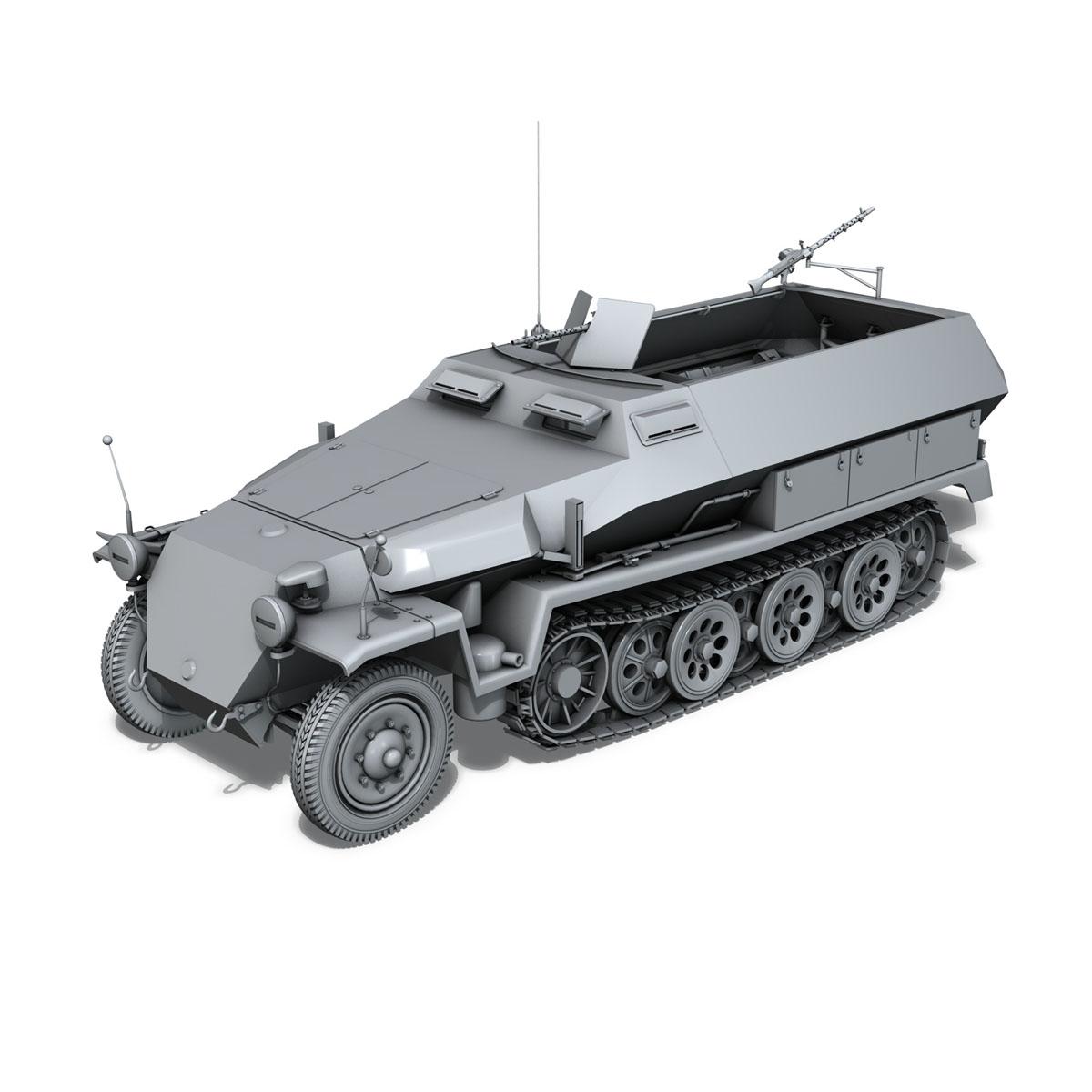 sd.kfz 251/1 ausf.c – hanomag halftruck 3d model 3ds fbx c4d lwo obj 201164