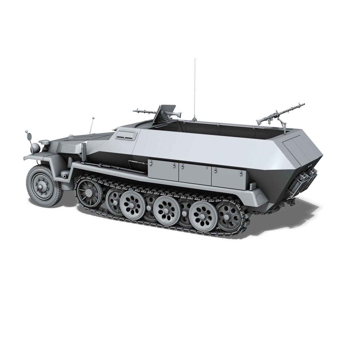 sd.kfz 251/1 ausf.c – hanomag halftruck 3d model 3ds fbx c4d lwo obj 201165