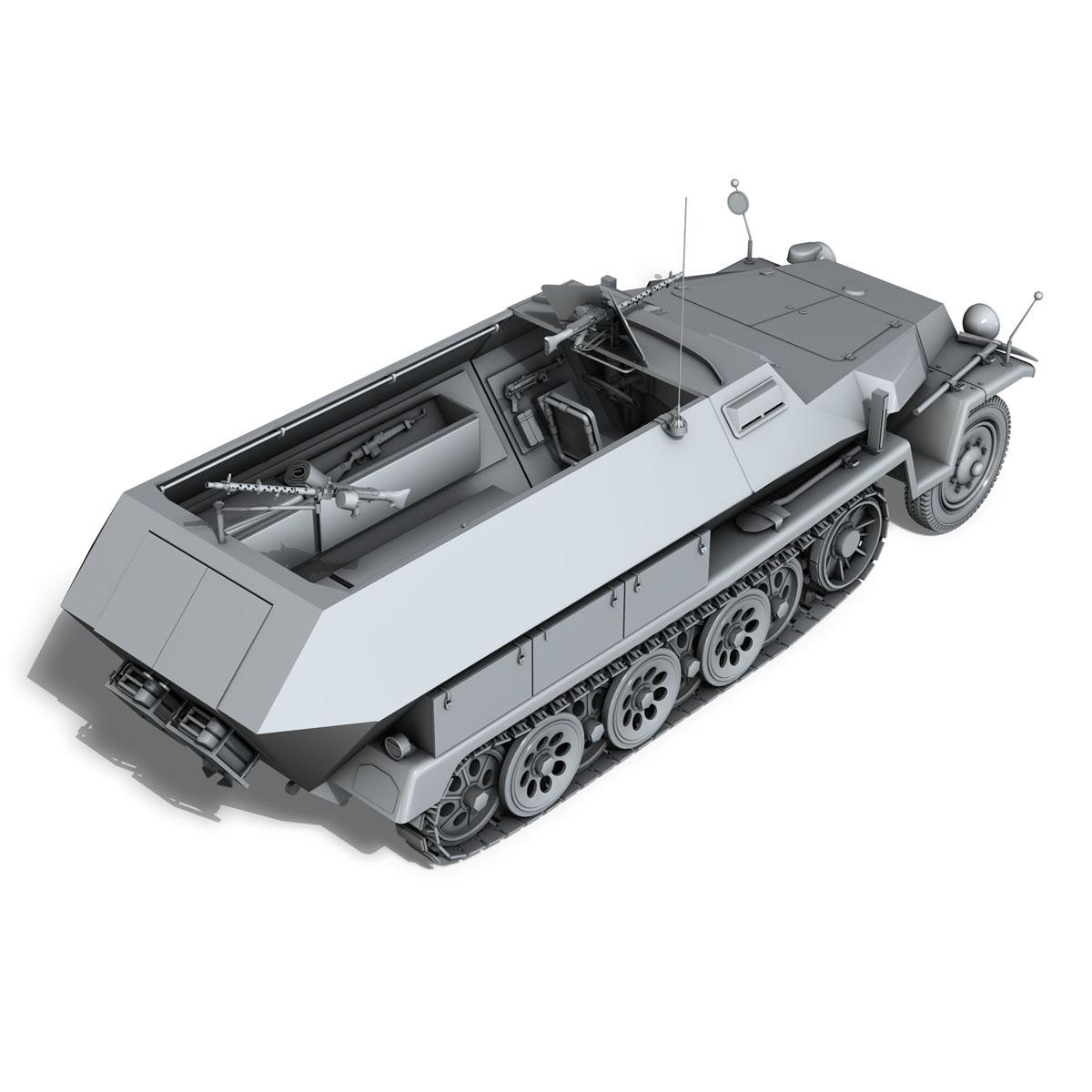 sd.kfz 251/1 ausf.c – hanomag halftruck 3d model 3ds fbx c4d lwo obj 201167