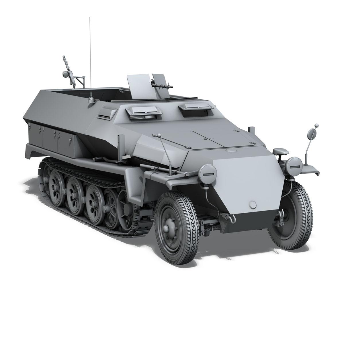 sd.kfz 251/1 ausf.c – hanomag halftruck 3d model 3ds fbx c4d lwo obj 201169