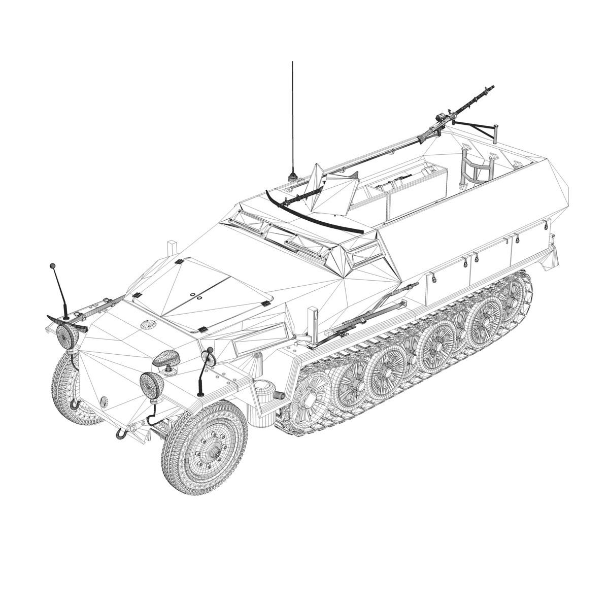 sd.kfz 251/1 ausf.c – hanomag halftruck 3d model 3ds fbx c4d lwo obj 201172