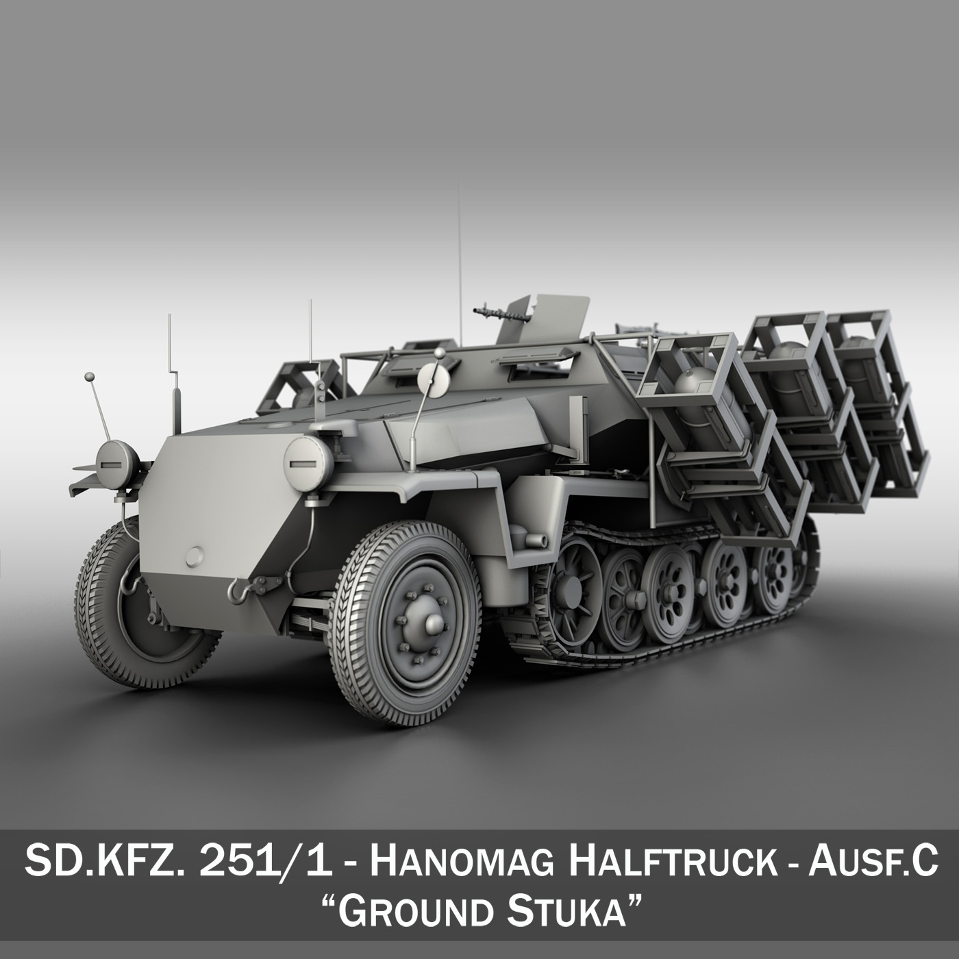 sd.kfz 251/1 ausf.c – walking stuka 3d model 3ds fbx c4d lwo obj 201238
