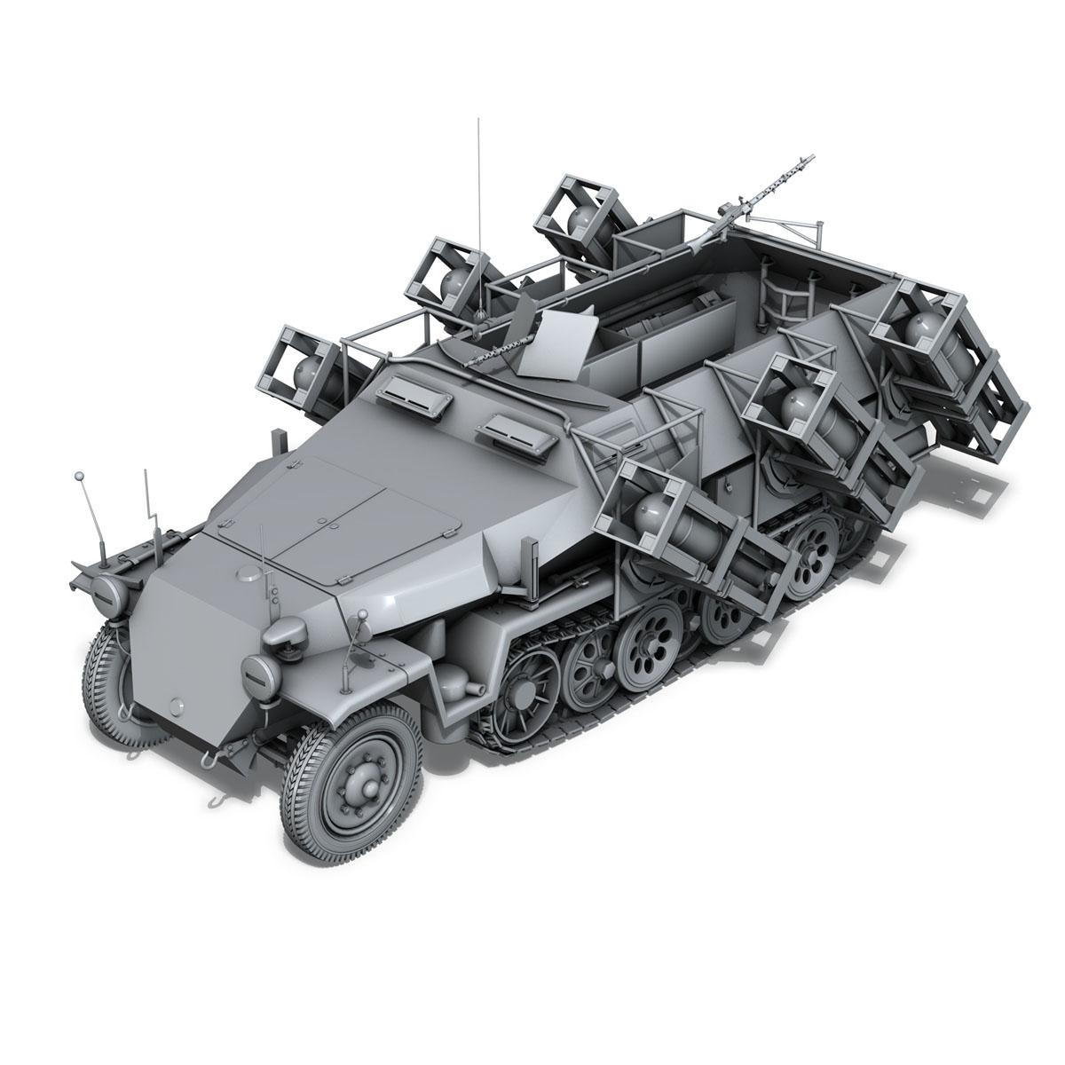 sd.kfz 251/1 ausf.c – walking stuka 3d model 3ds fbx c4d lwo obj 201239