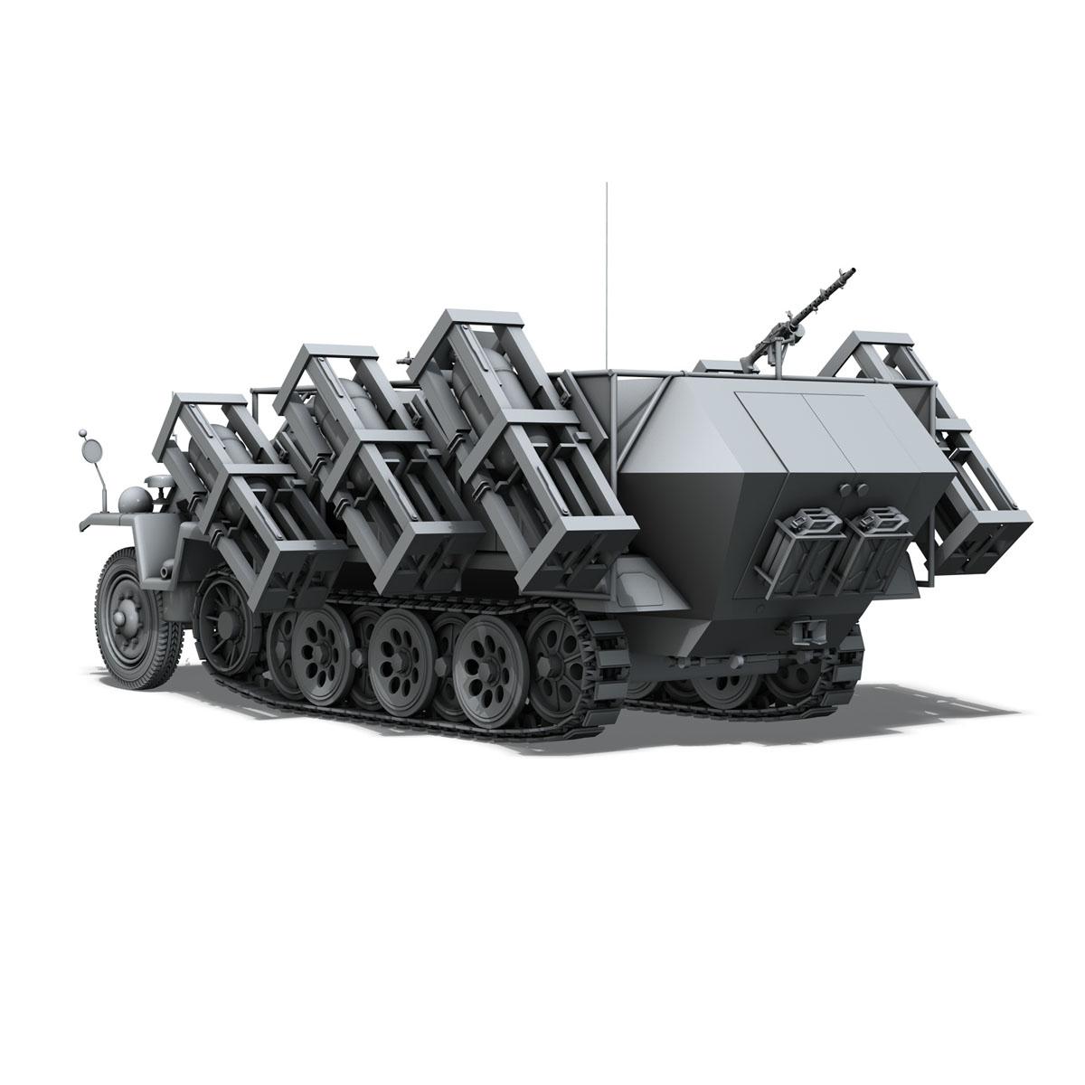 sd.kfz 251/1 ausf.c – walking stuka 3d model 3ds fbx c4d lwo obj 201240
