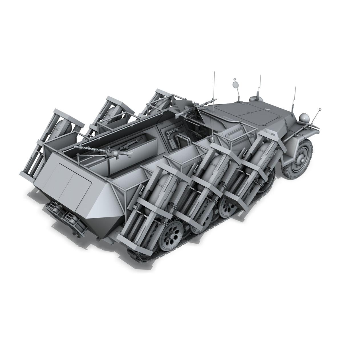 sd.kfz 251/1 ausf.c – walking stuka 3d model 3ds fbx c4d lwo obj 201241