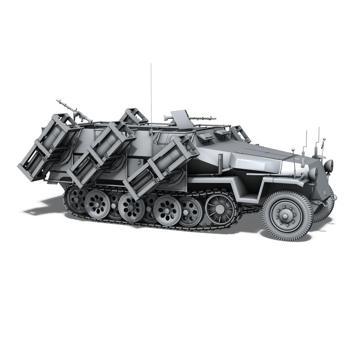 sd.kfz 251/1 ausf.c – walking stuka 3d model 3ds fbx c4d lwo obj 201242