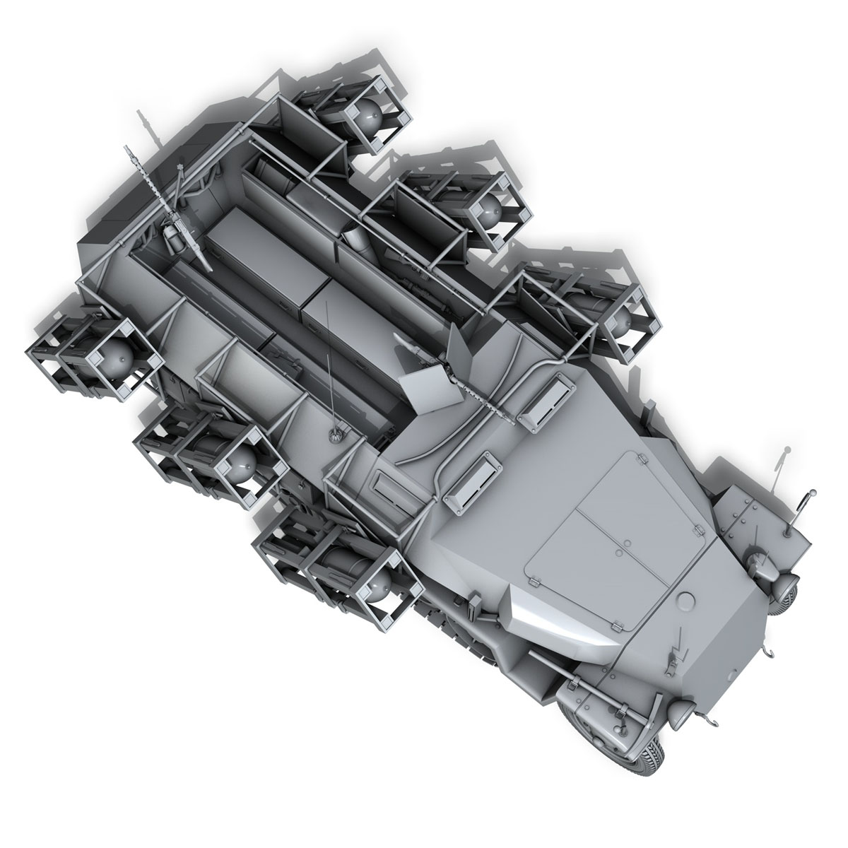 sd.kfz 251/1 ausf.c – walking stuka 3d model 3ds fbx c4d lwo obj 201243