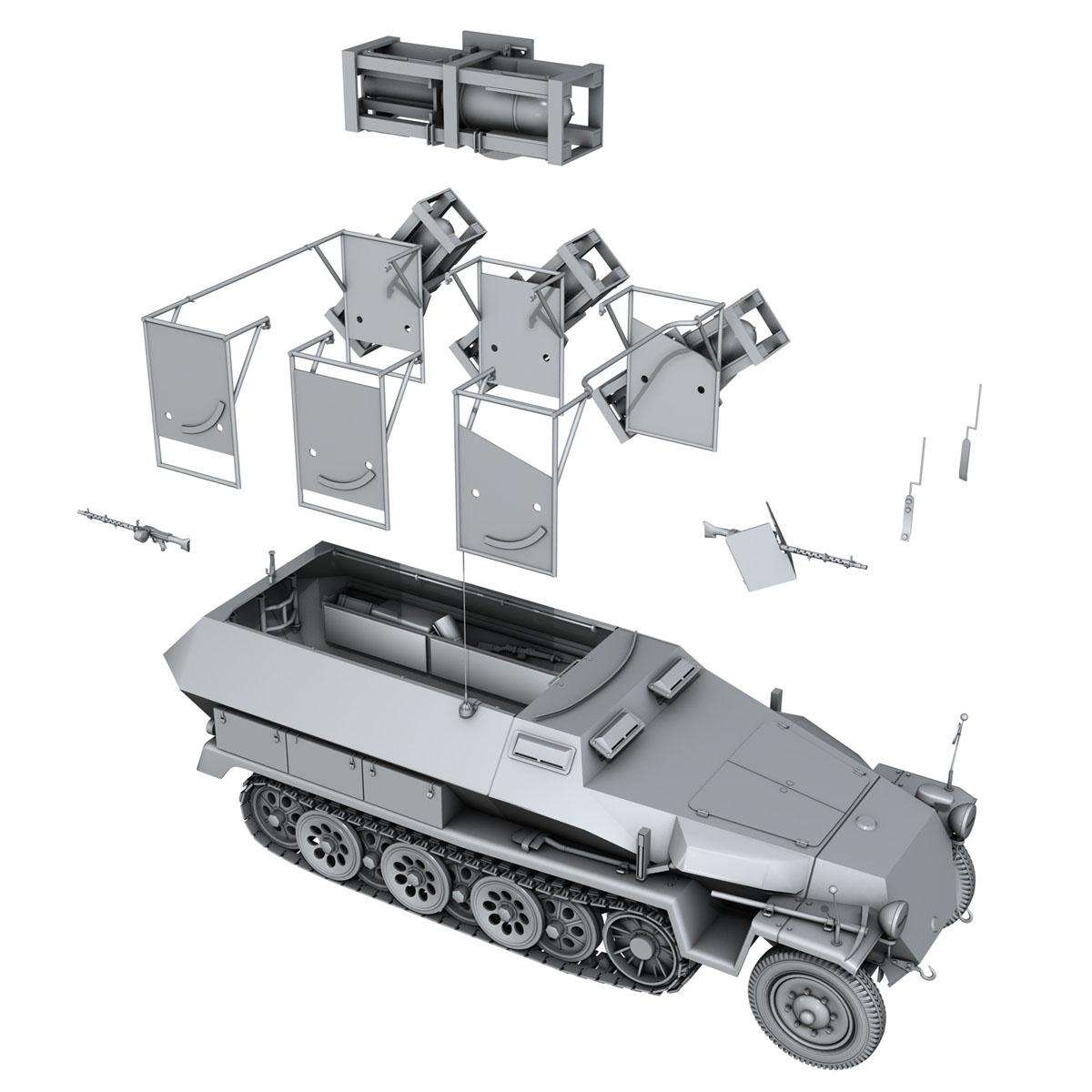sd.kfz 251/1 ausf.c – walking stuka 3d model 3ds fbx c4d lwo obj 201244