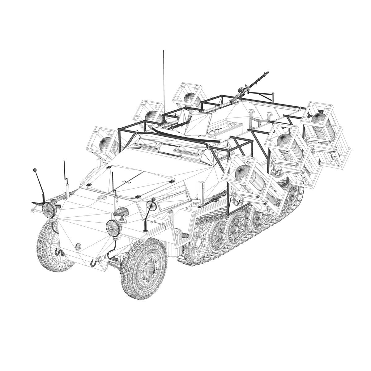 sd.kfz 251/1 ausf.c – walking stuka 3d model 3ds fbx c4d lwo obj 201247