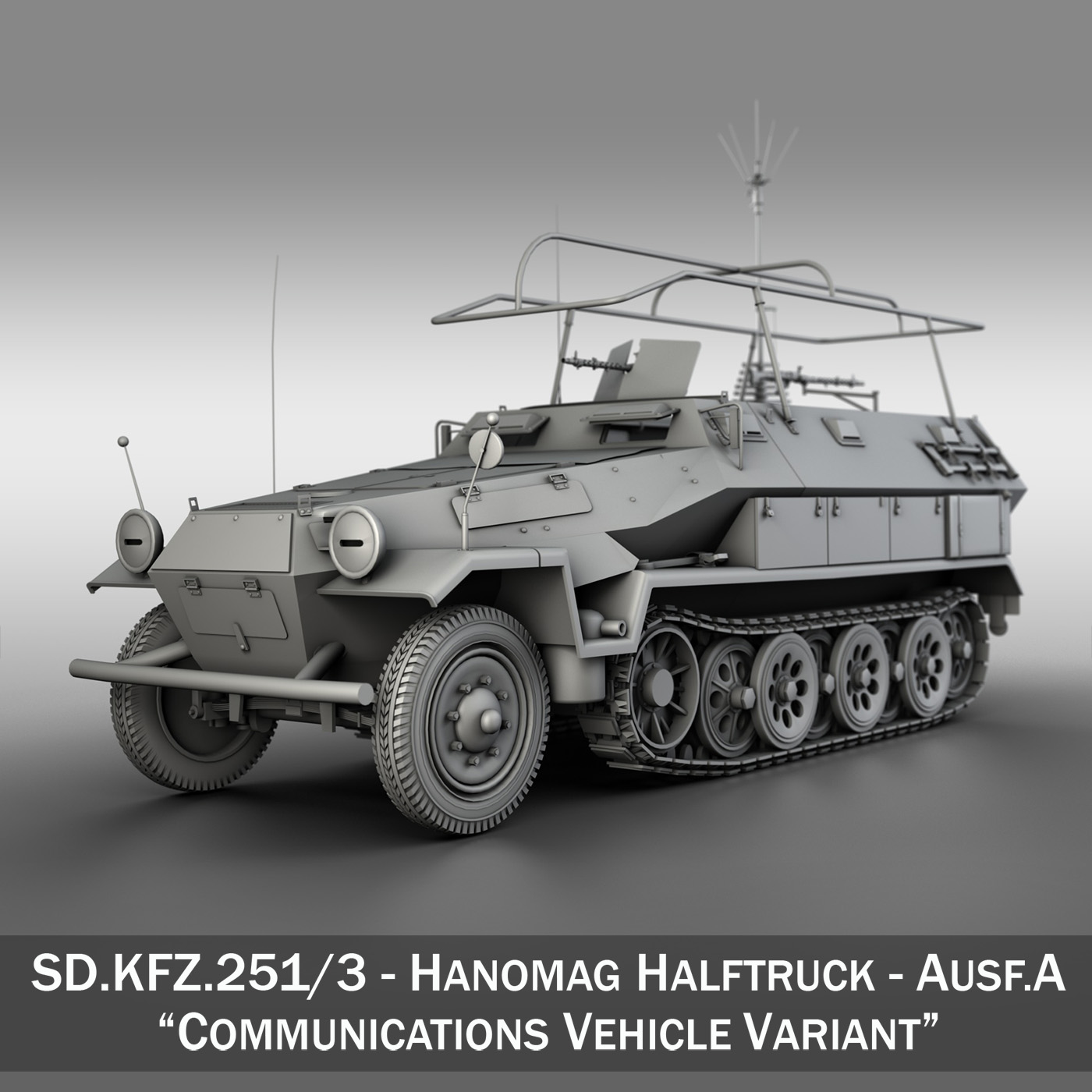 sd.kfz 251/3 iv ausf.a – hanomag radio vehilce 3d model 3ds fbx c4d lwo obj 201263