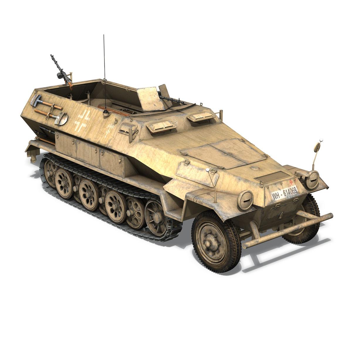 sd.kfz 251 1 ausf.b – hanomag halftruck dak – 15pd 3d model 3ds fbx c4d lwo obj 201299