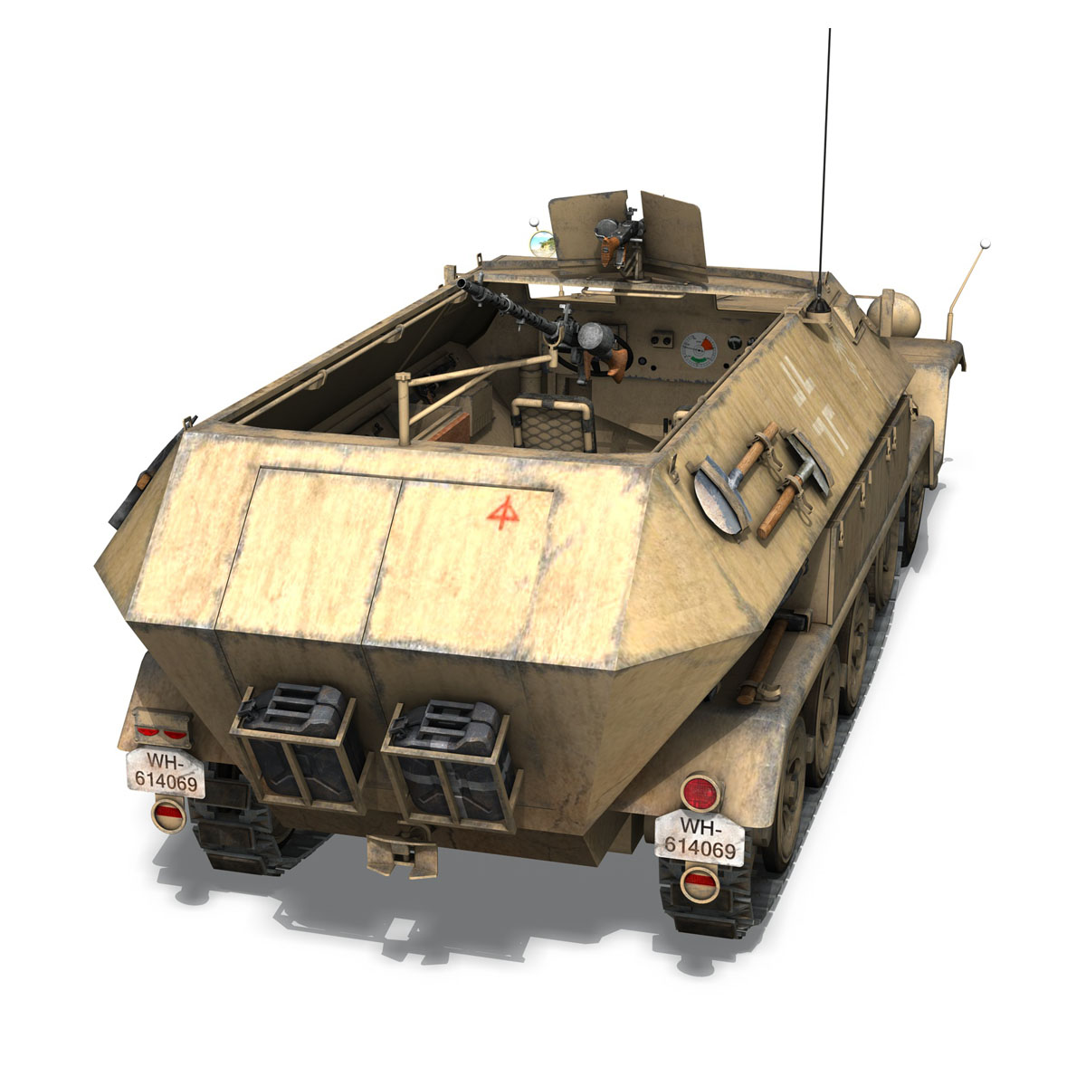 sd.kfz 251 1 ausf.b – hanomag halftruck dak – 15pd 3d model 3ds fbx c4d lwo obj 201301