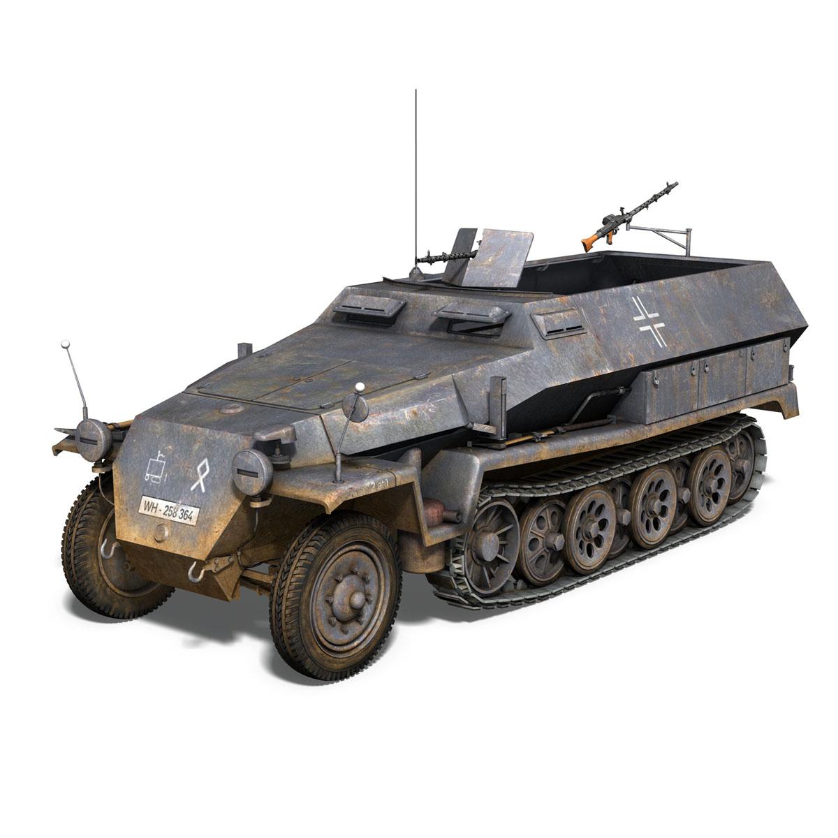 sd.kfz 251 1 ausf.c – half-track 3d model 3ds fbx c4d lwo obj 201391
