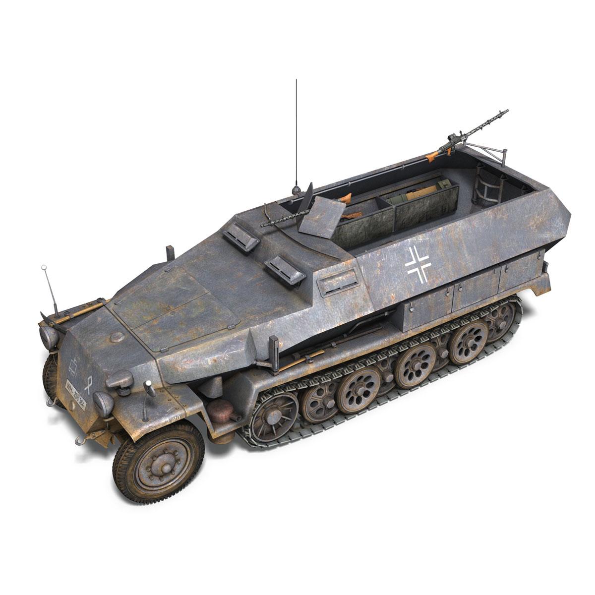 sd.kfz 251 1 ausf.c – half-track 3d model 3ds fbx c4d lwo obj 201392