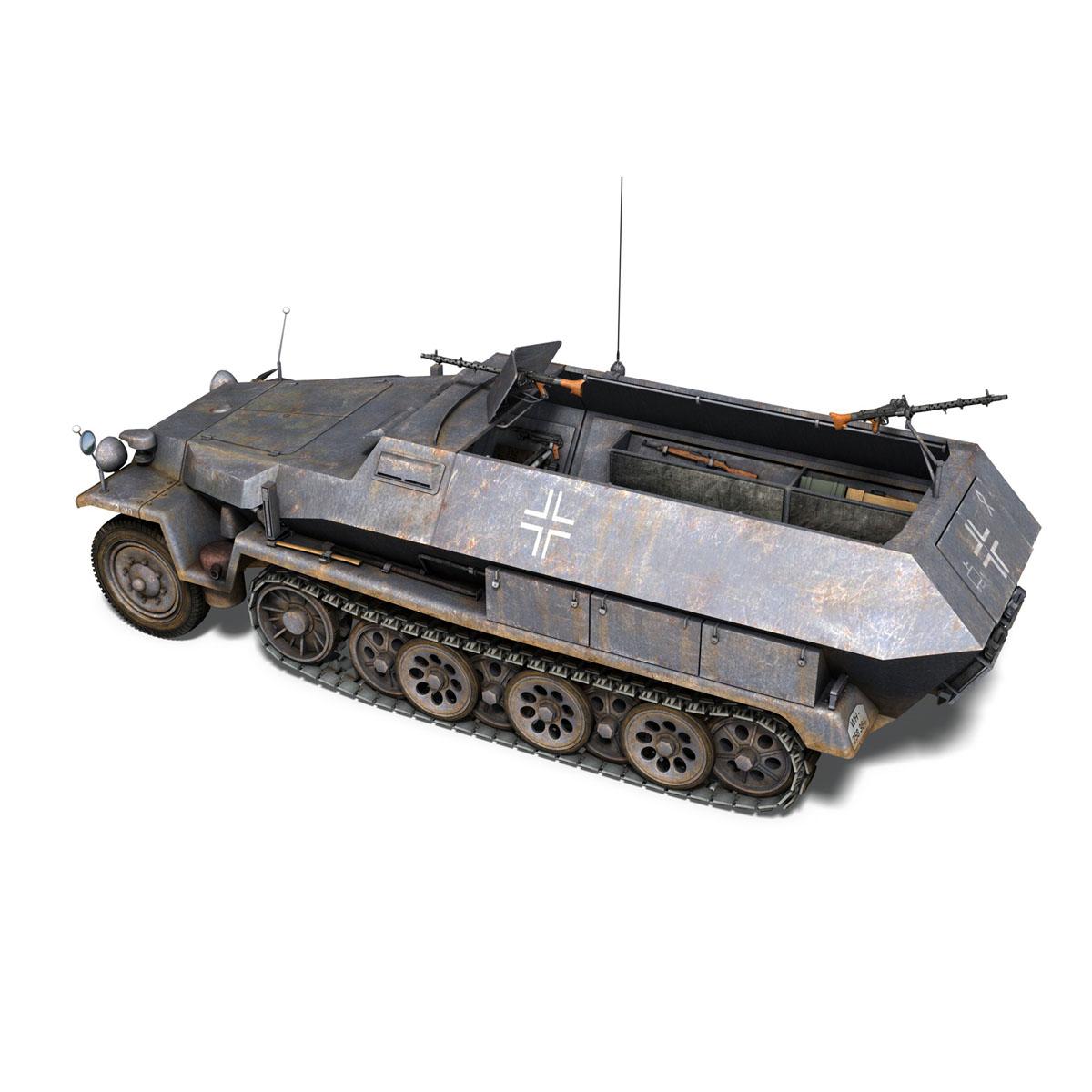 sd.kfz 251 1 ausf.c – half-track 3d model 3ds fbx c4d lwo obj 201393