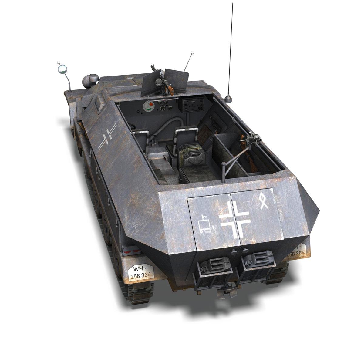 sd.kfz 251 1 ausf.c – half-track 3d model 3ds fbx c4d lwo obj 201394