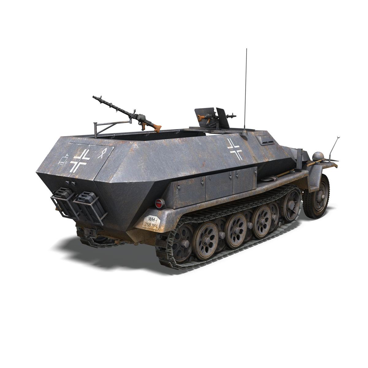 sd.kfz 251 1 ausf.c – half-track 3d model 3ds fbx c4d lwo obj 201395