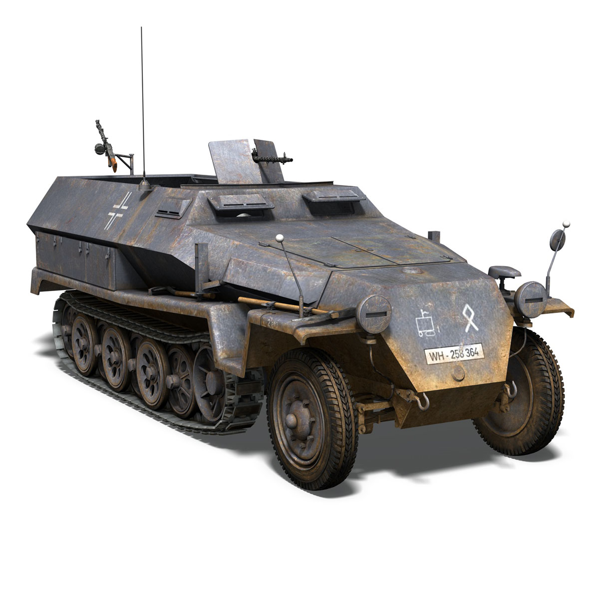 sd.kfz 251 1 ausf.c – half-track 3d model 3ds fbx c4d lwo obj 201396
