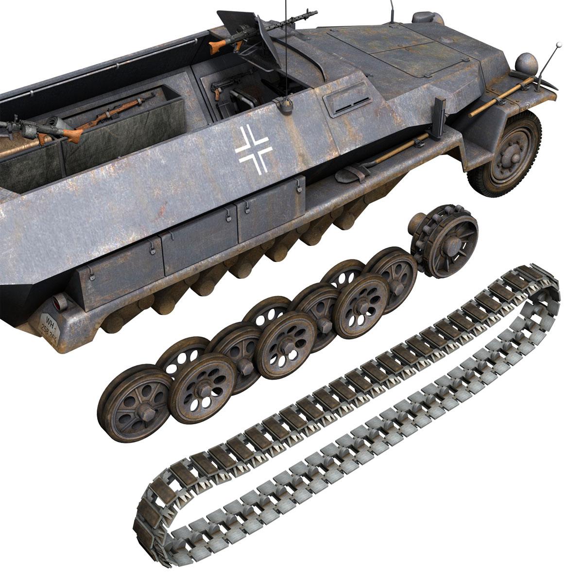 sd.kfz 251 1 ausf.c – half-track 3d model 3ds fbx c4d lwo obj 201398