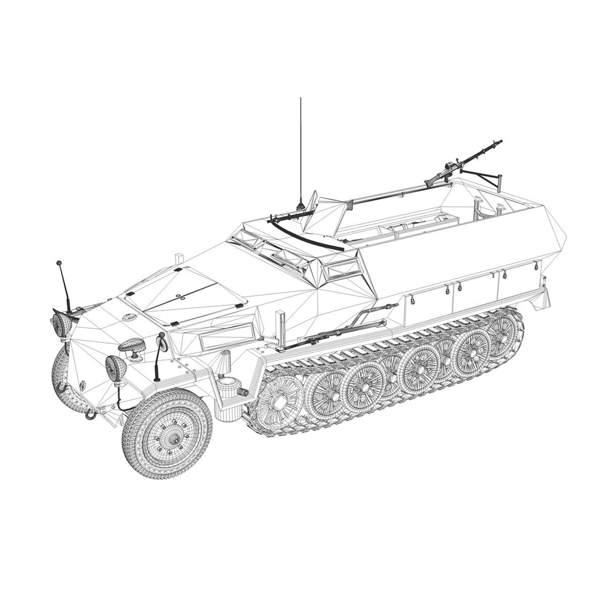 sd.kfz 251 1 ausf.c – half-track 3d model 3ds fbx c4d lwo obj 201399