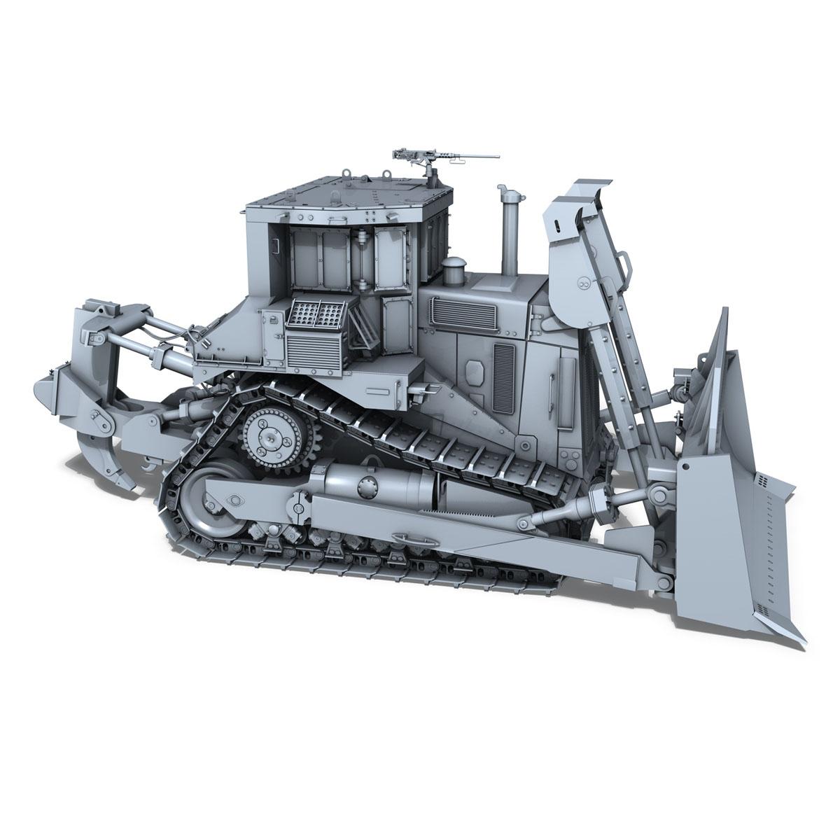 хуягт муур d9r bulldozer 3d загвар 3ds fbx c4d lwo obj 201402