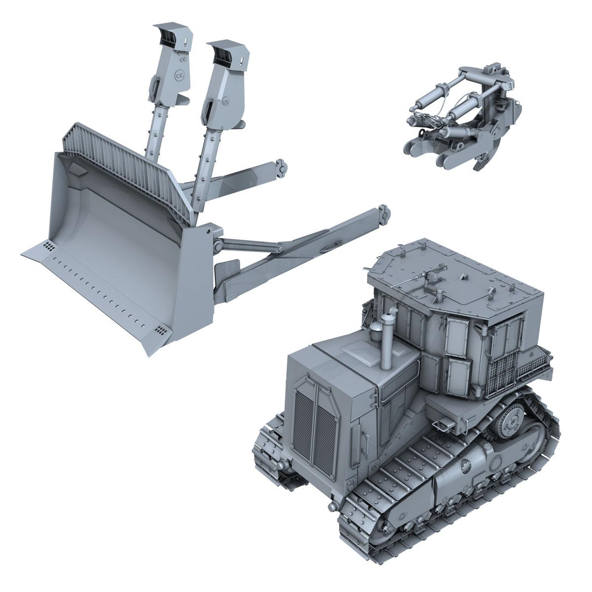 хуягт муур d9r bulldozer 3d загвар 3ds fbx c4d lwo obj 201408