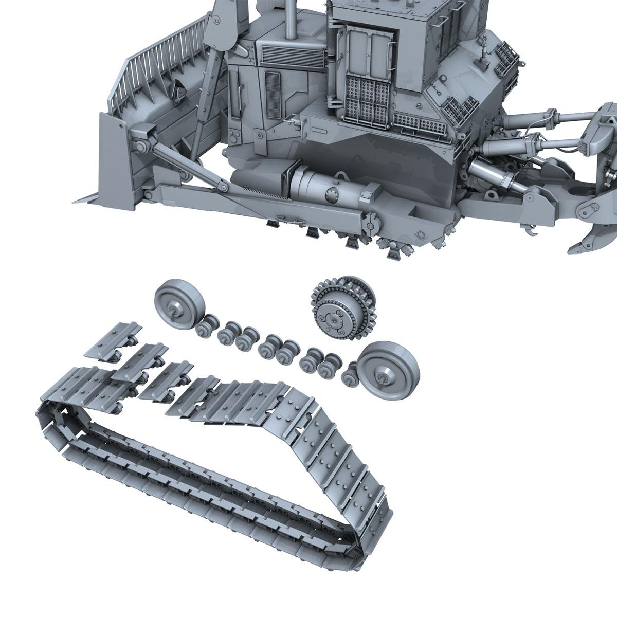 хуягт муур d9r bulldozer 3d загвар 3ds fbx c4d lwo obj 201409