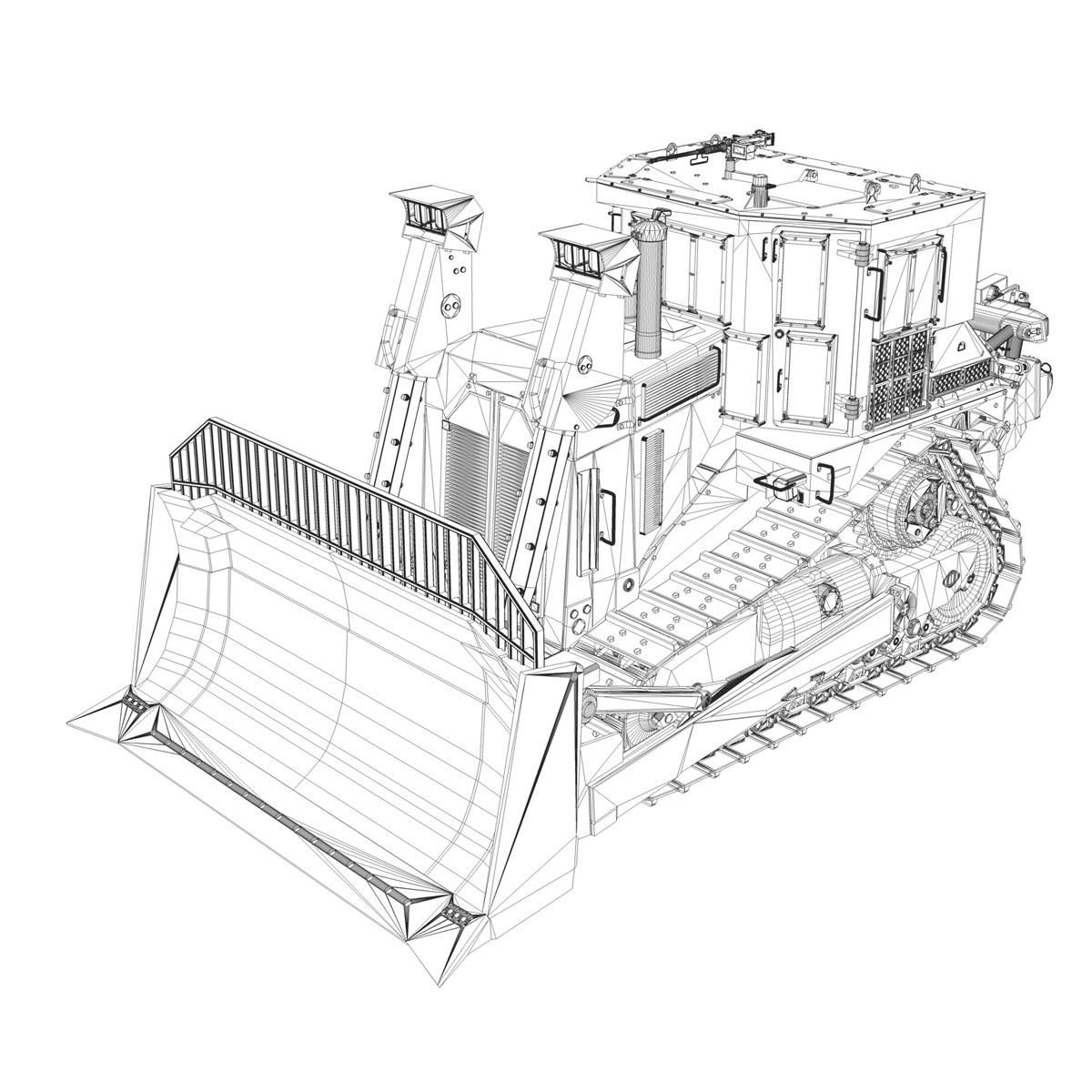 хуягт муур d9r bulldozer 3d загвар 3ds fbx c4d lwo obj 201410