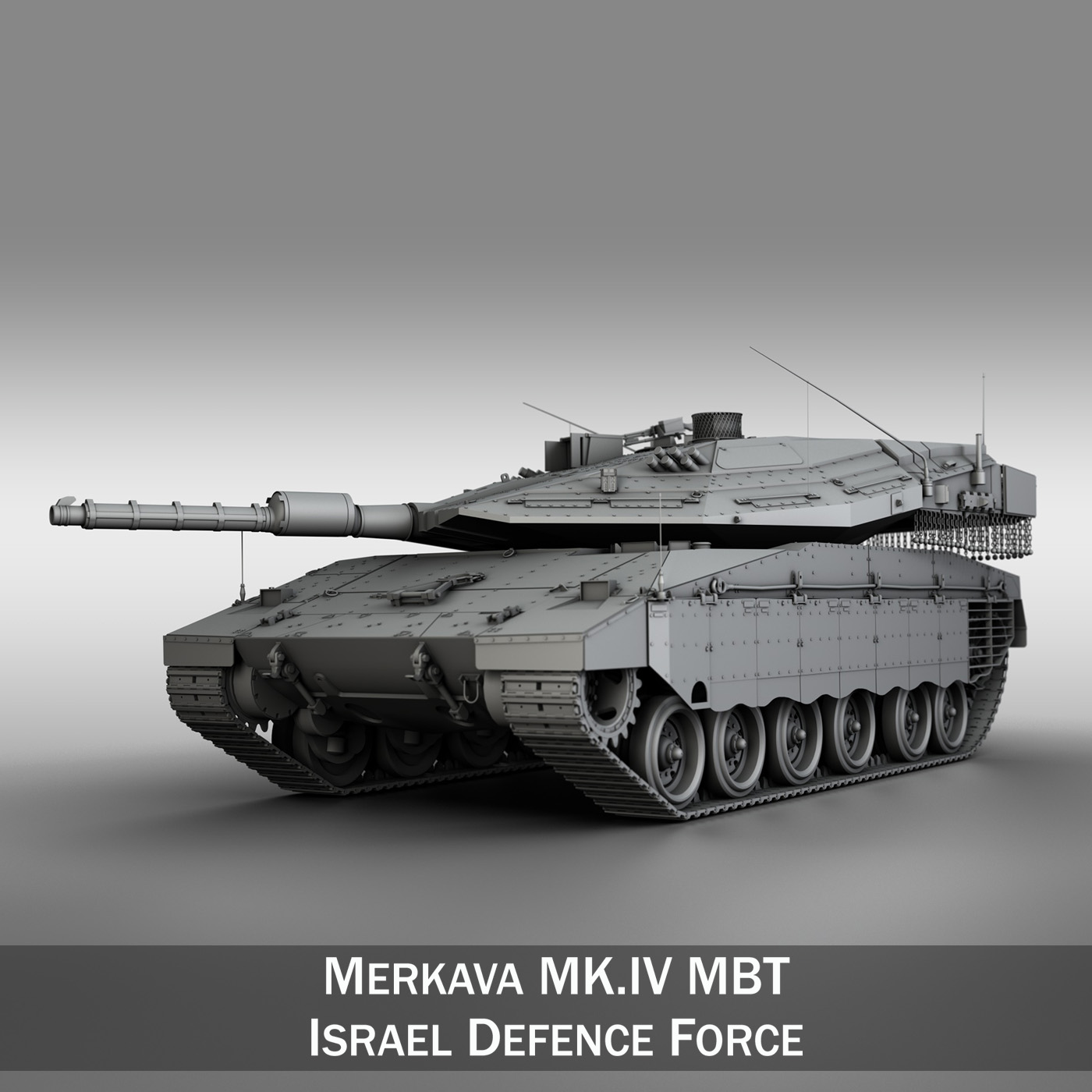 Armored Vehicles For Sale >> Merkava IV MBT 3D Model | FlatPyramid