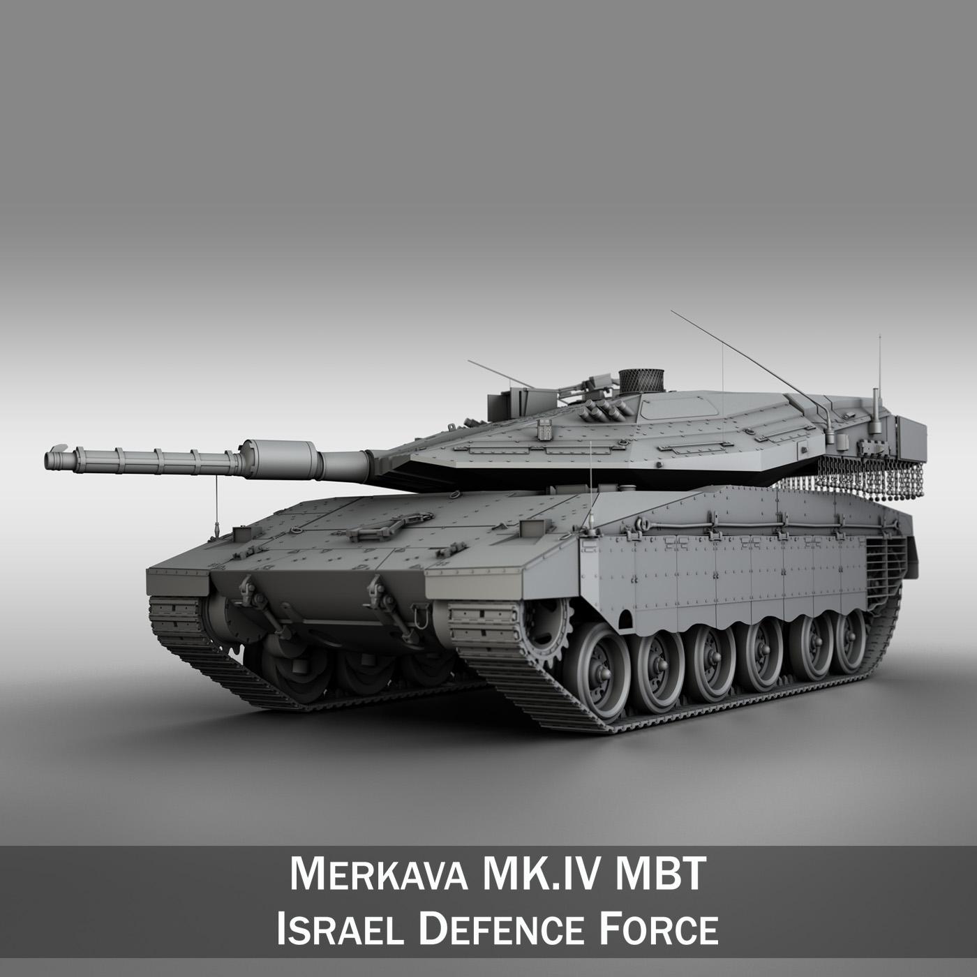 Armored Vehicles For Sale >> Merkava IV MBT 3D Model | FlatPyramid