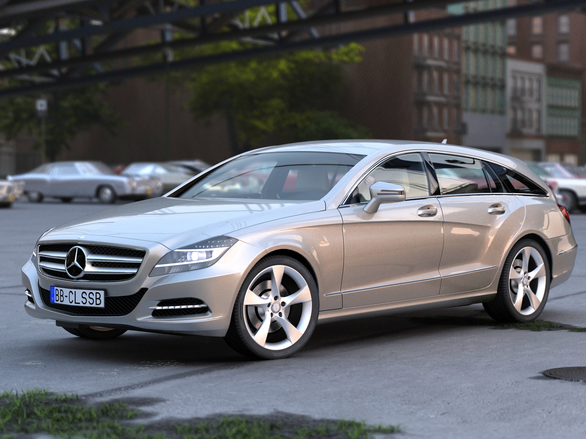 Mercedes benz cls shooting brake 2013 3d model buy for 2013 mercedes benz cls