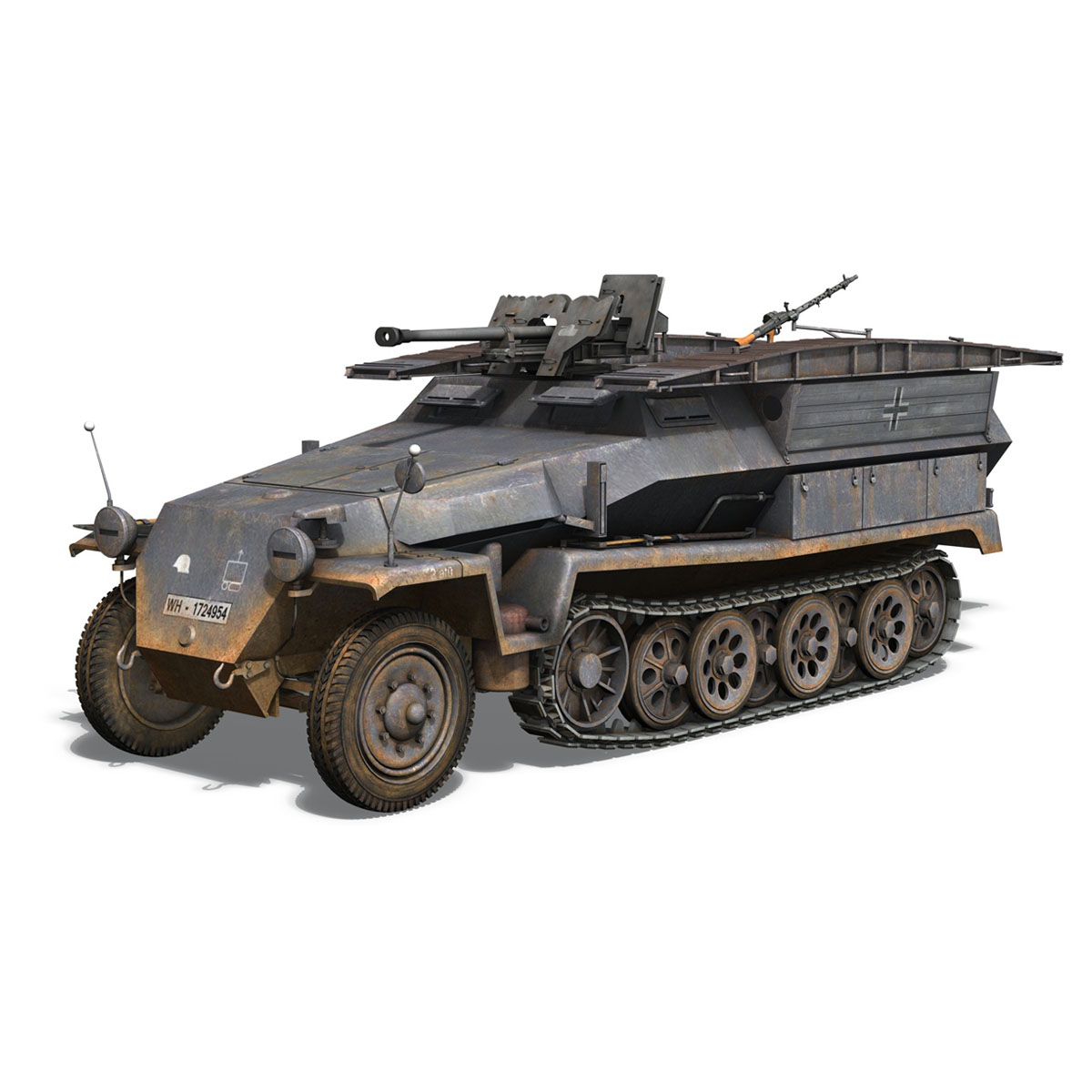 sd.kfz 251/7 ausf.c – pioneer assault bridge 3d model 3ds fbx c4d lwo obj 201520