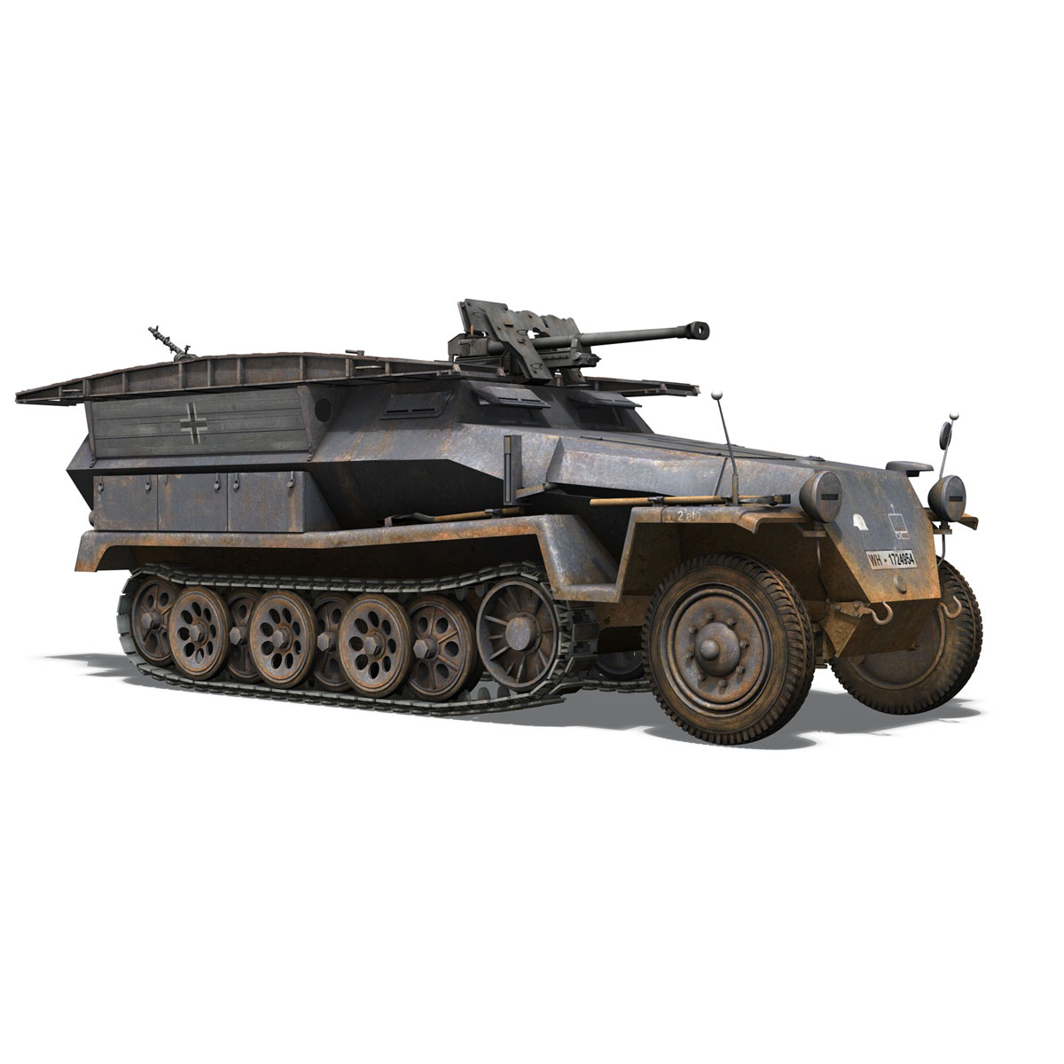 sd.kfz 251/7 ausf.c – pioneer assault bridge 3d model 3ds fbx c4d lwo obj 201521