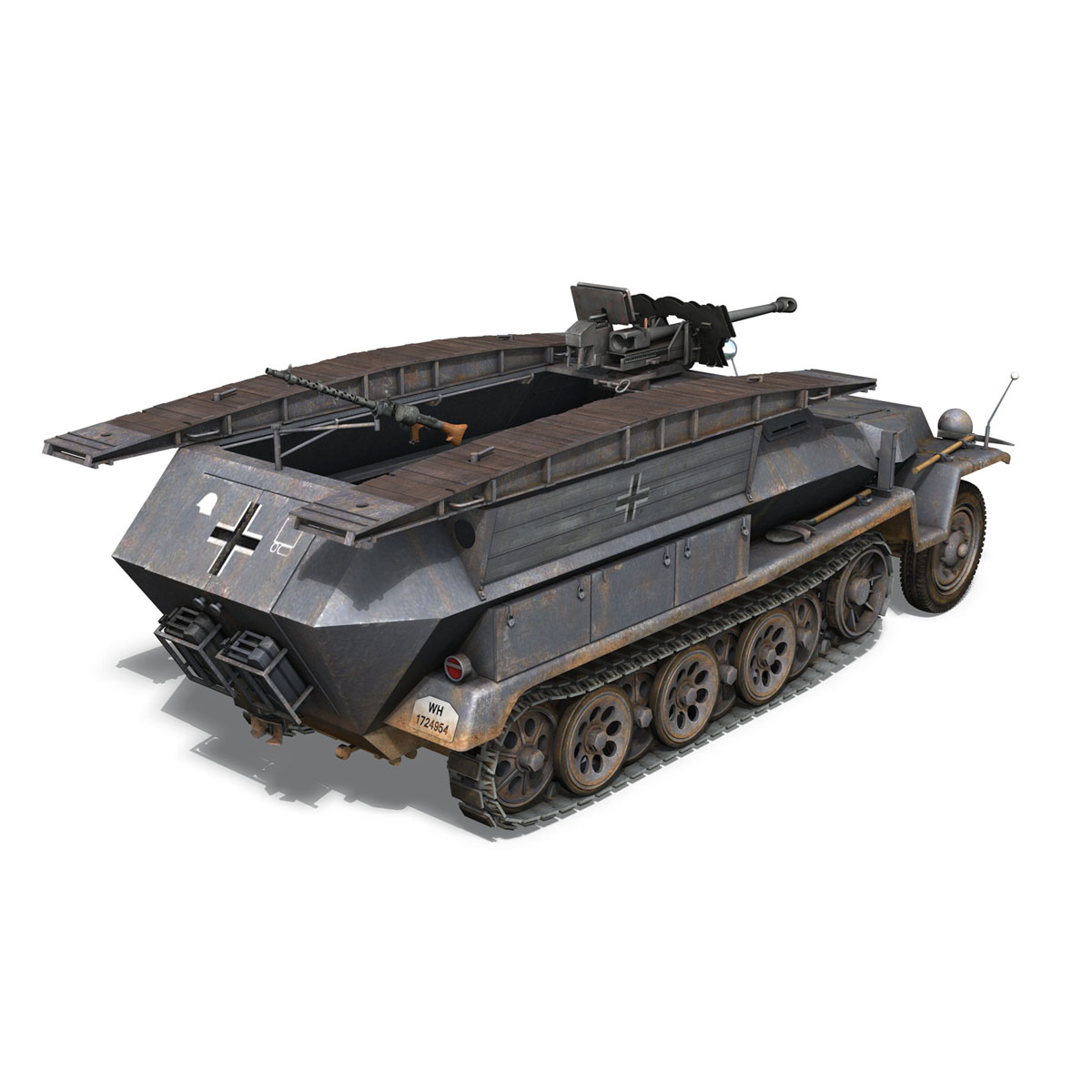 sd.kfz 251/7 ausf.c – pioneer assault bridge 3d model 3ds fbx c4d lwo obj 201522