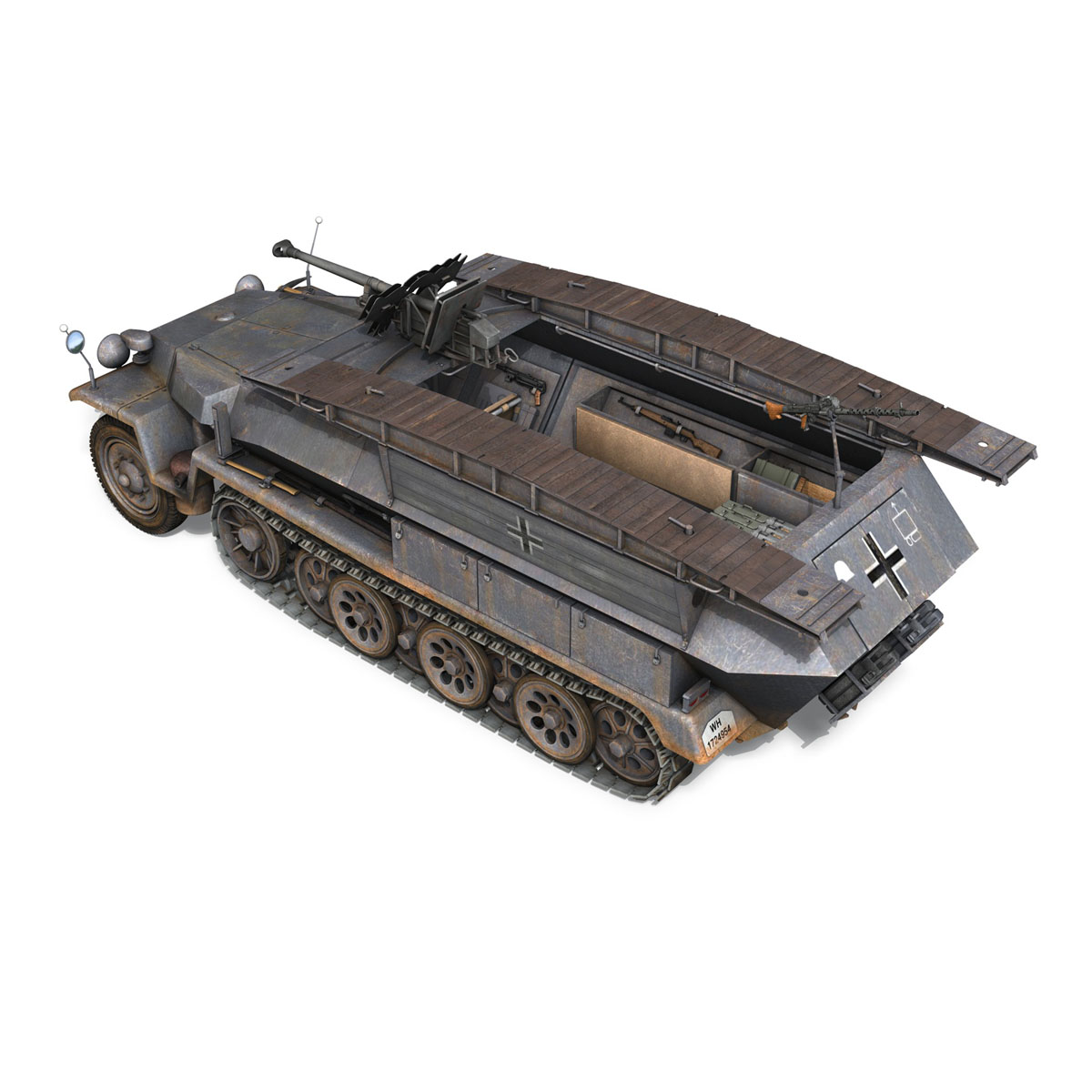 sd.kfz 251/7 ausf.c – pioneer assault bridge 3d model 3ds fbx c4d lwo obj 201523