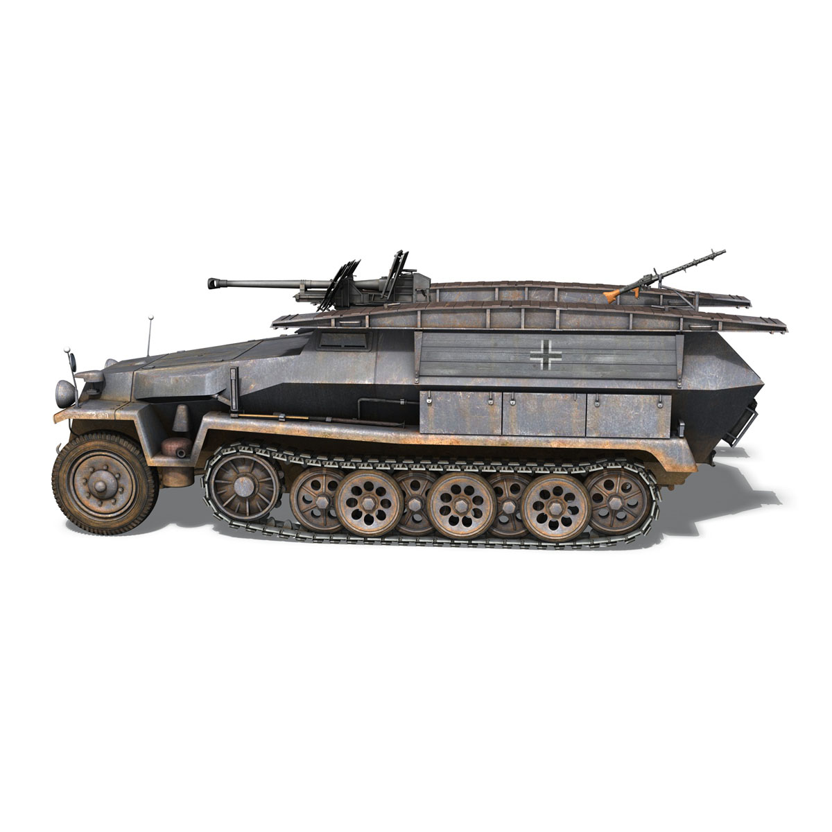 sd.kfz 251/7 ausf.c – pioneer assault bridge 3d model 3ds fbx c4d lwo obj 201524