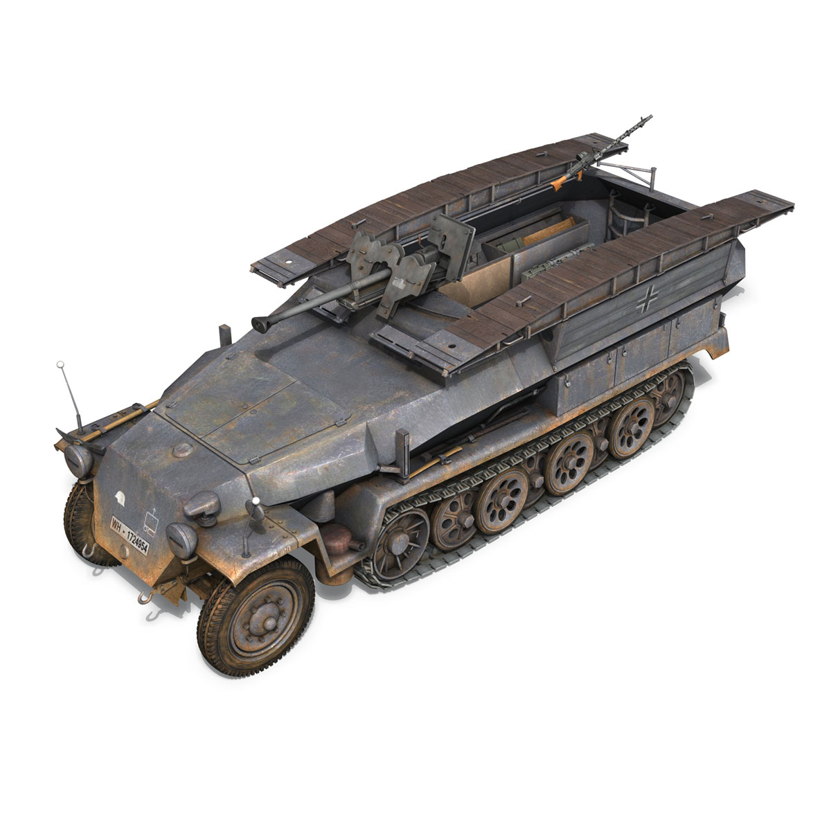 sd.kfz 251/7 ausf.c – pioneer assault bridge 3d model 3ds fbx c4d lwo obj 201525