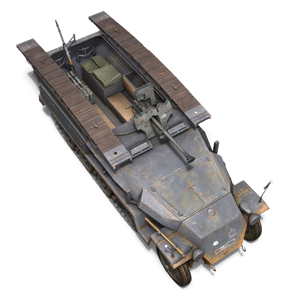 sd.kfz 251/7 ausf.c – pioneer assault bridge 3d model 3ds fbx c4d lwo obj 201526