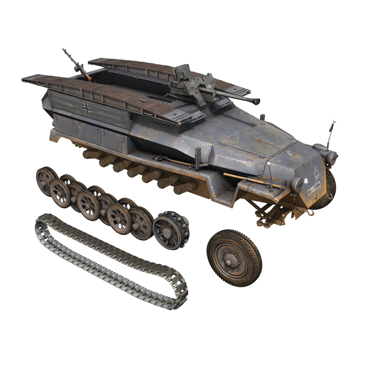 sd.kfz 251/7 ausf.c – pioneer assault bridge 3d model 3ds fbx c4d lwo obj 201527