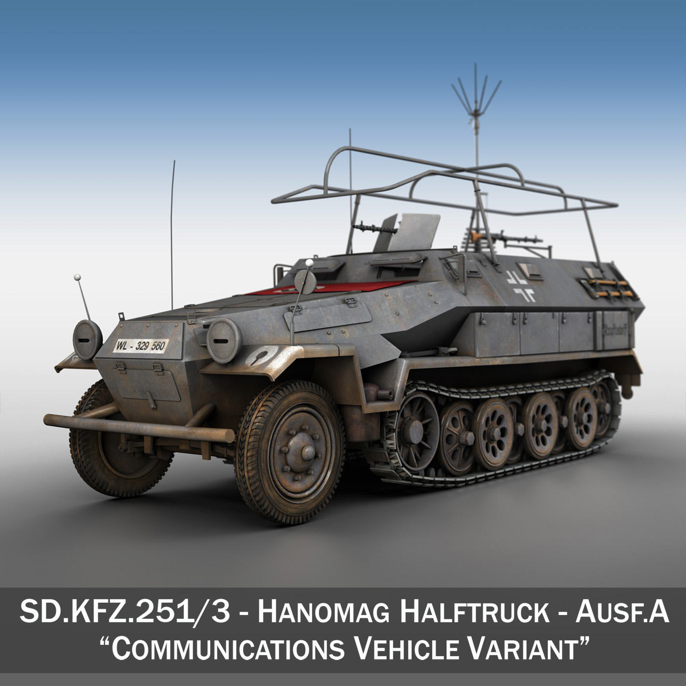 sd.kfz 251/3 iv ausf.a – radio and command vehilce 3d model 3ds fbx c4d lwo obj 201530