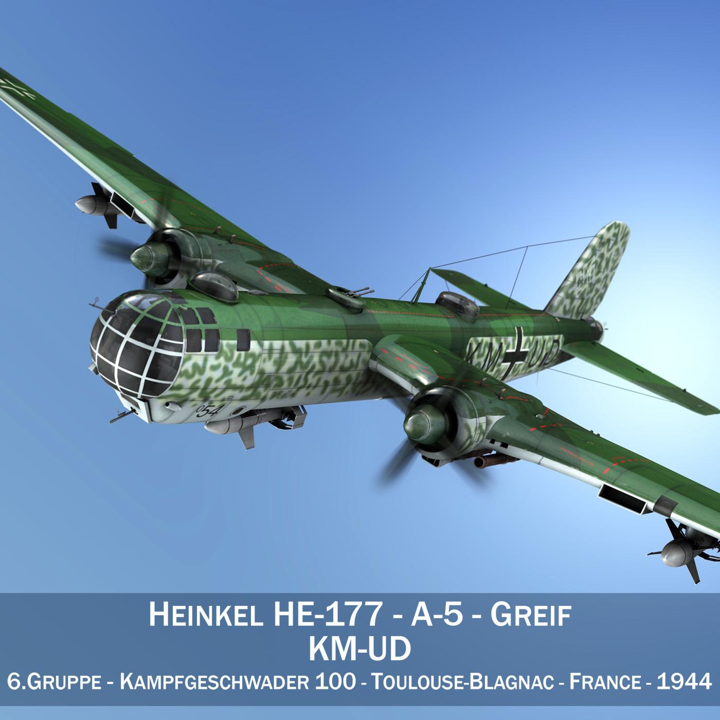 heinkel he-177 - greif - kmud Model 3d 3ds fbx c4d lwo obj 201562