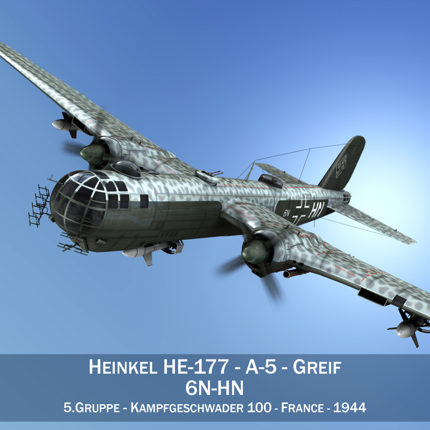 heinkel he-177 - greif - model 6nhn 3d 3ds fbx c4d lwo obj 201578