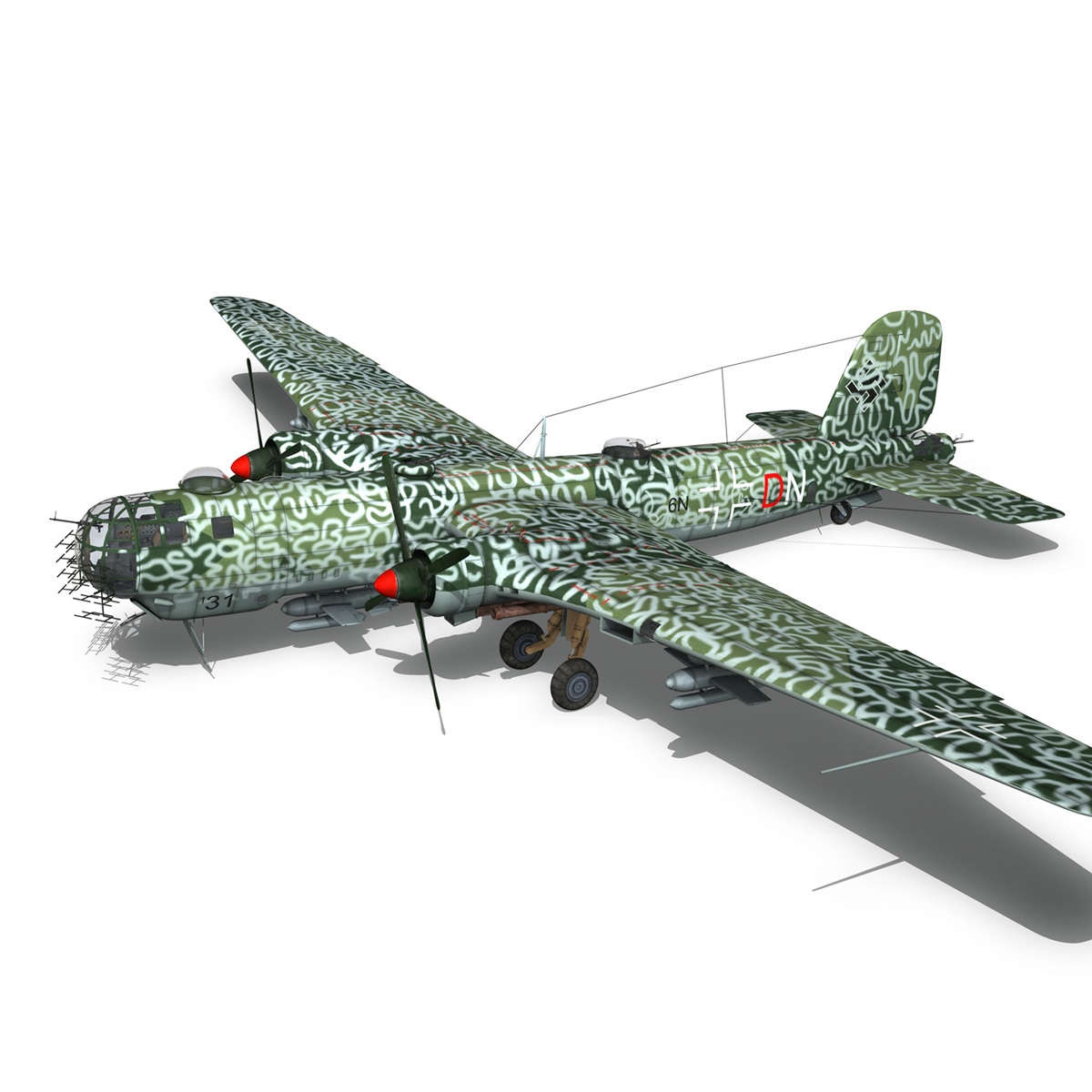 heinkel he-177 a-5 – greif – 6ndn 3d model 3ds fbx c4d lwo obj 201596