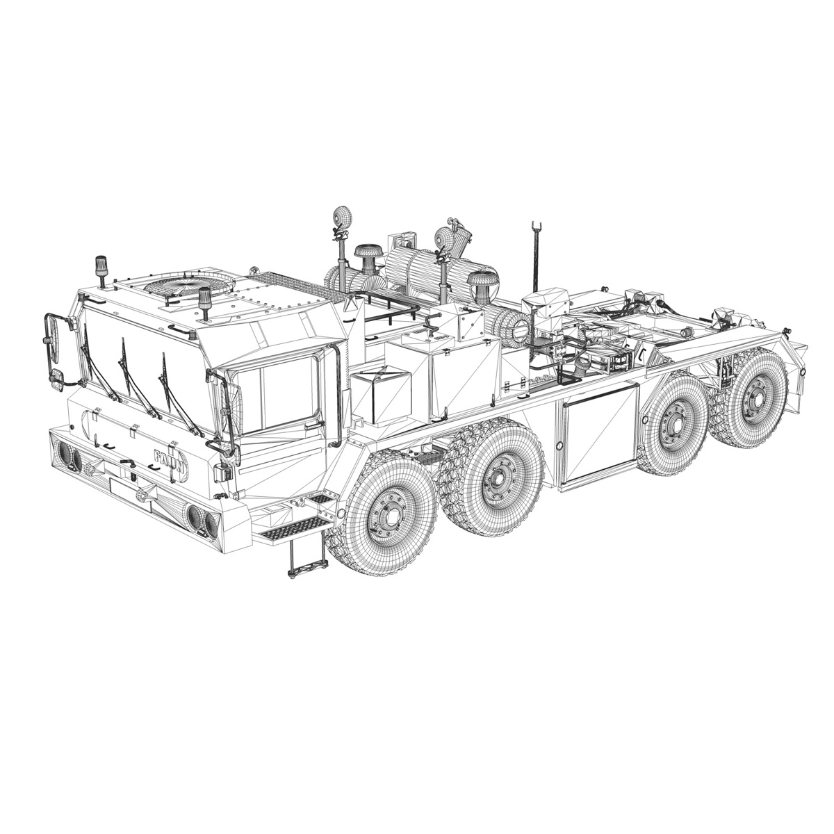 faun stl-56 transportues tank 3d model 3ds fbx c4d lwo obj 201921