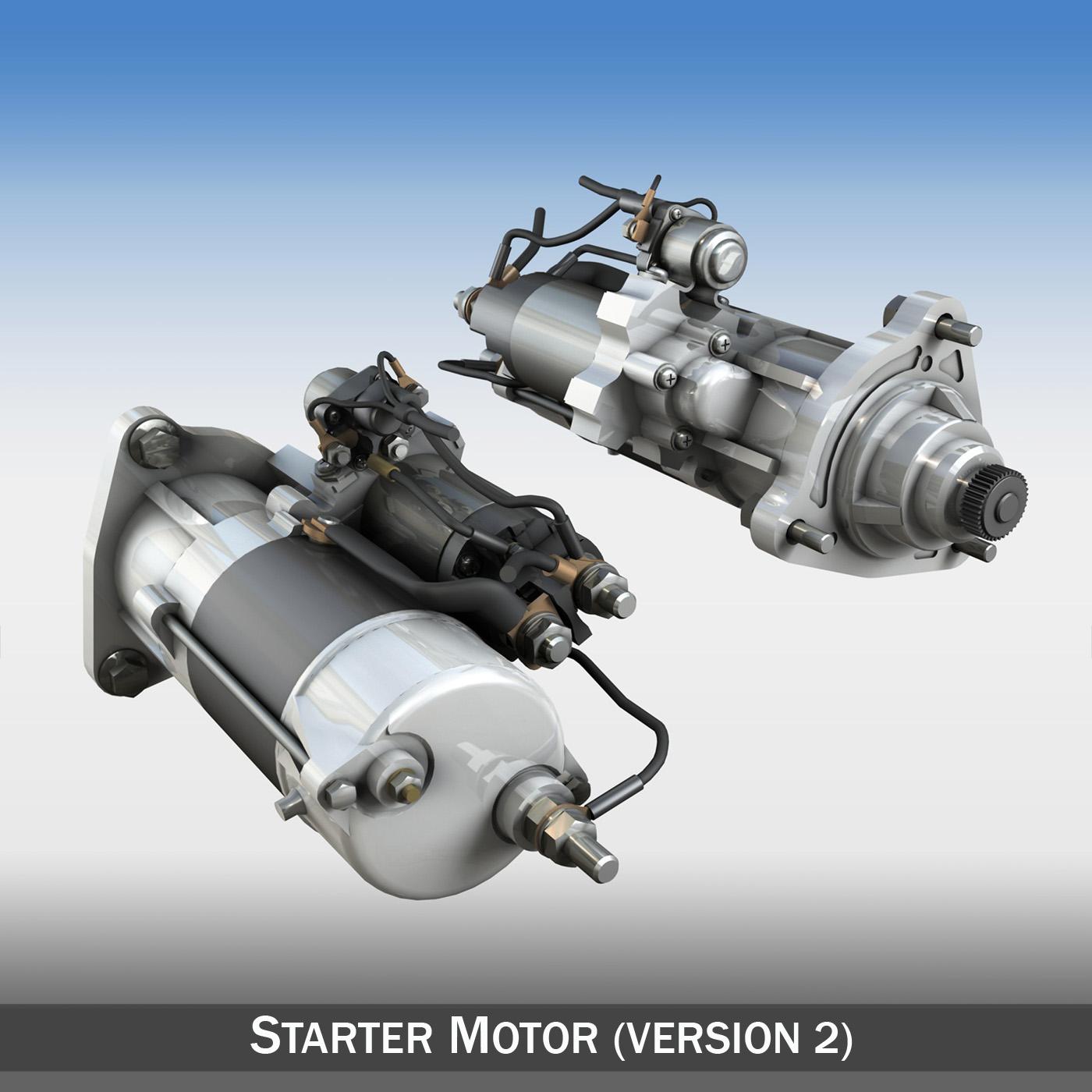 starter motor 02 3d model 3ds fbx c4d lwo obj 201925