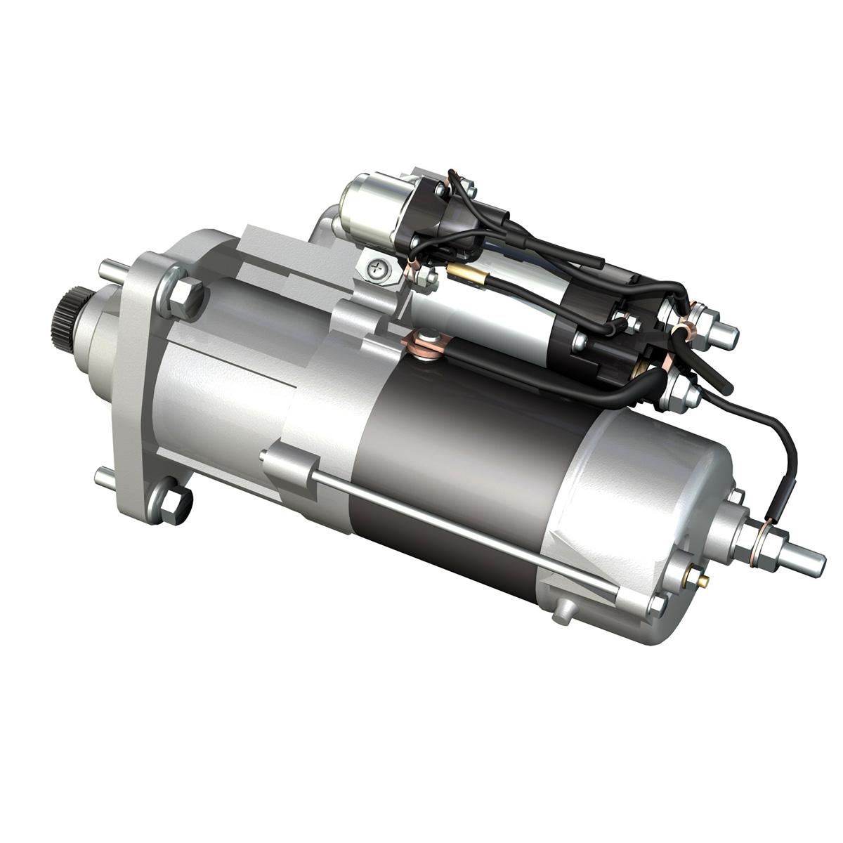 starter motor 02 3d model 3ds fbx c4d lwo obj 201927